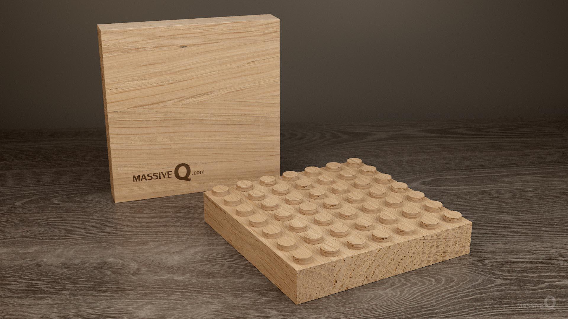 Q Baseplate 7x7x3 – Oak