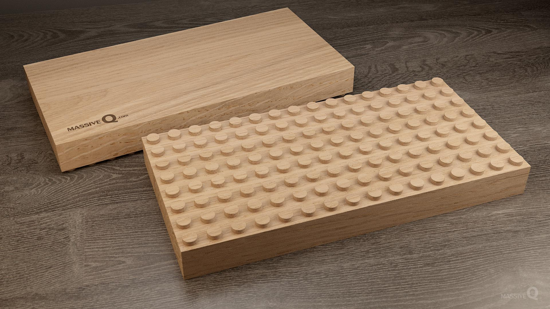 Q Baseplate 8x16x4 – Oak