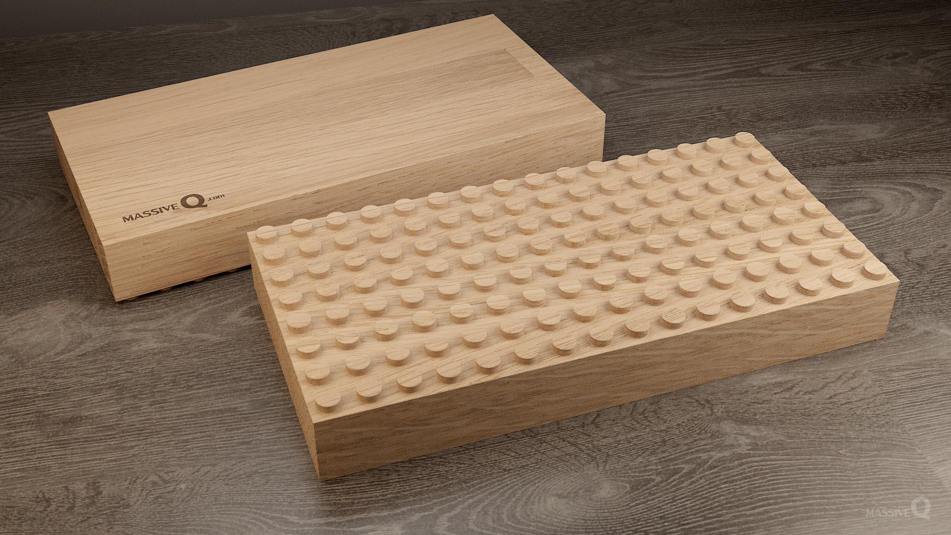Q Baseplate 8x16x5 – Oak
