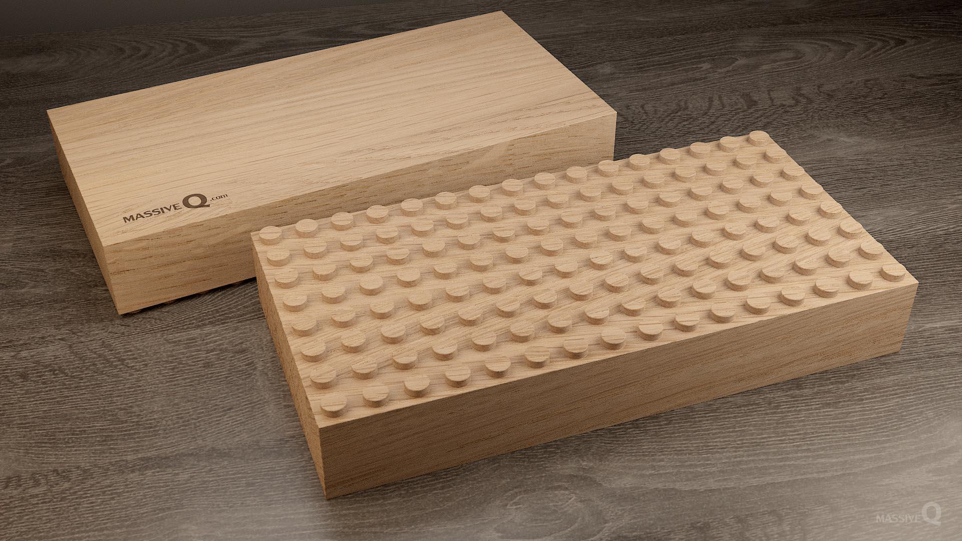 Q Baseplate 8x16x6 – Oak