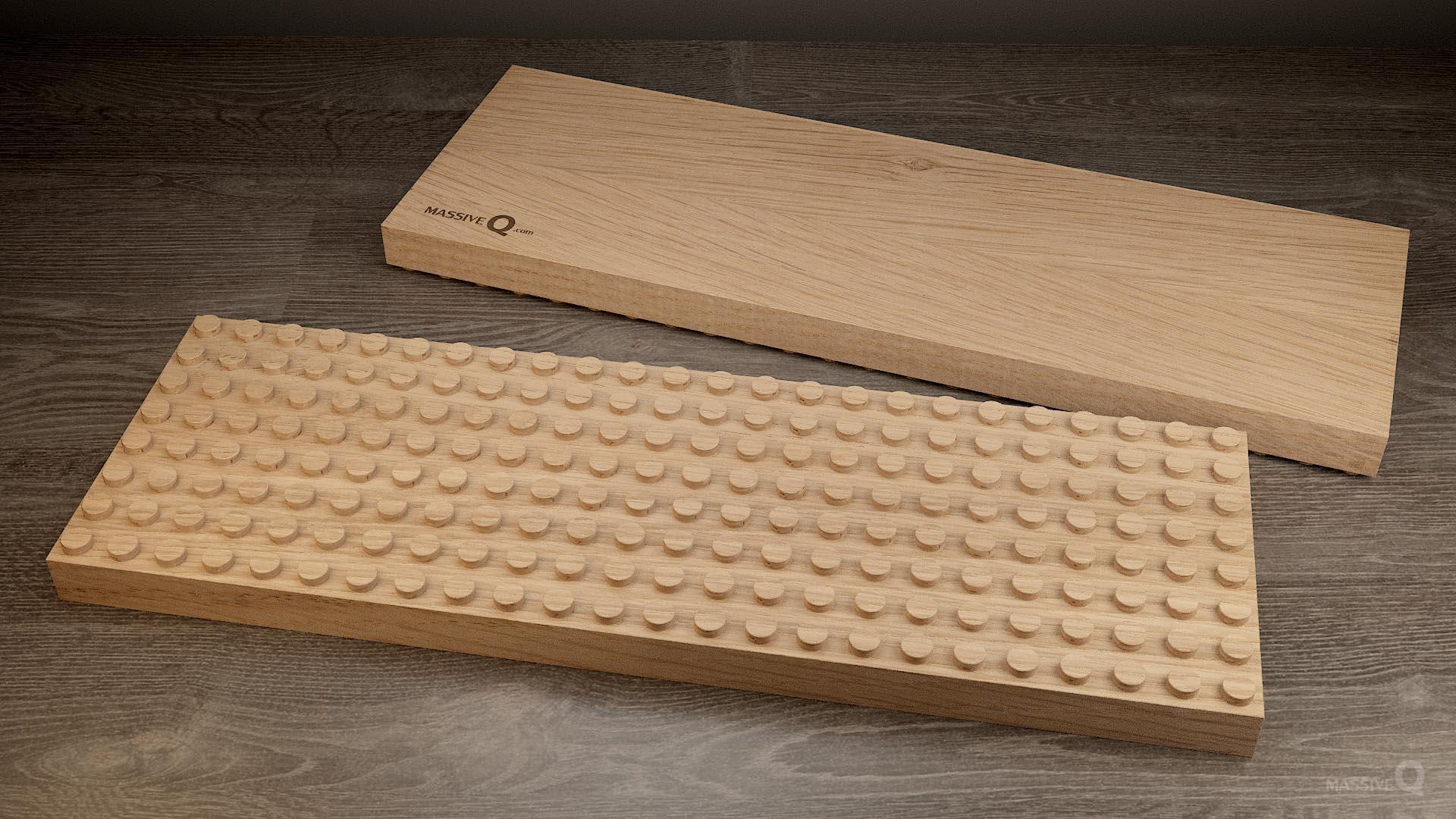 Q Baseplate 8x24x3 – Oak
