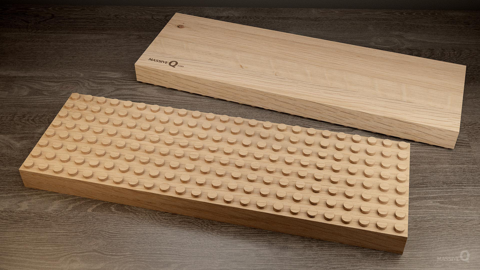 Q Baseplate 8x24x4 – Oak