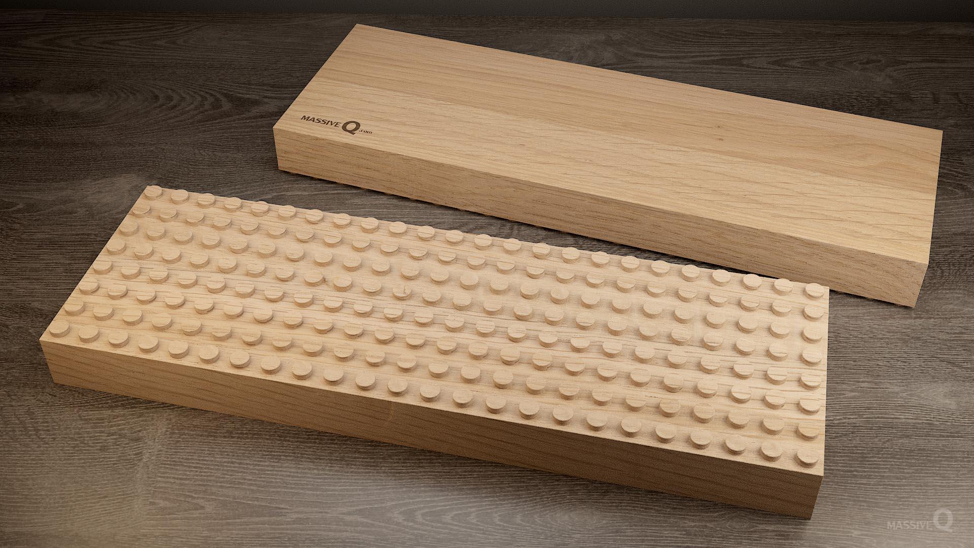 Q Baseplate 8x24x5 – Oak