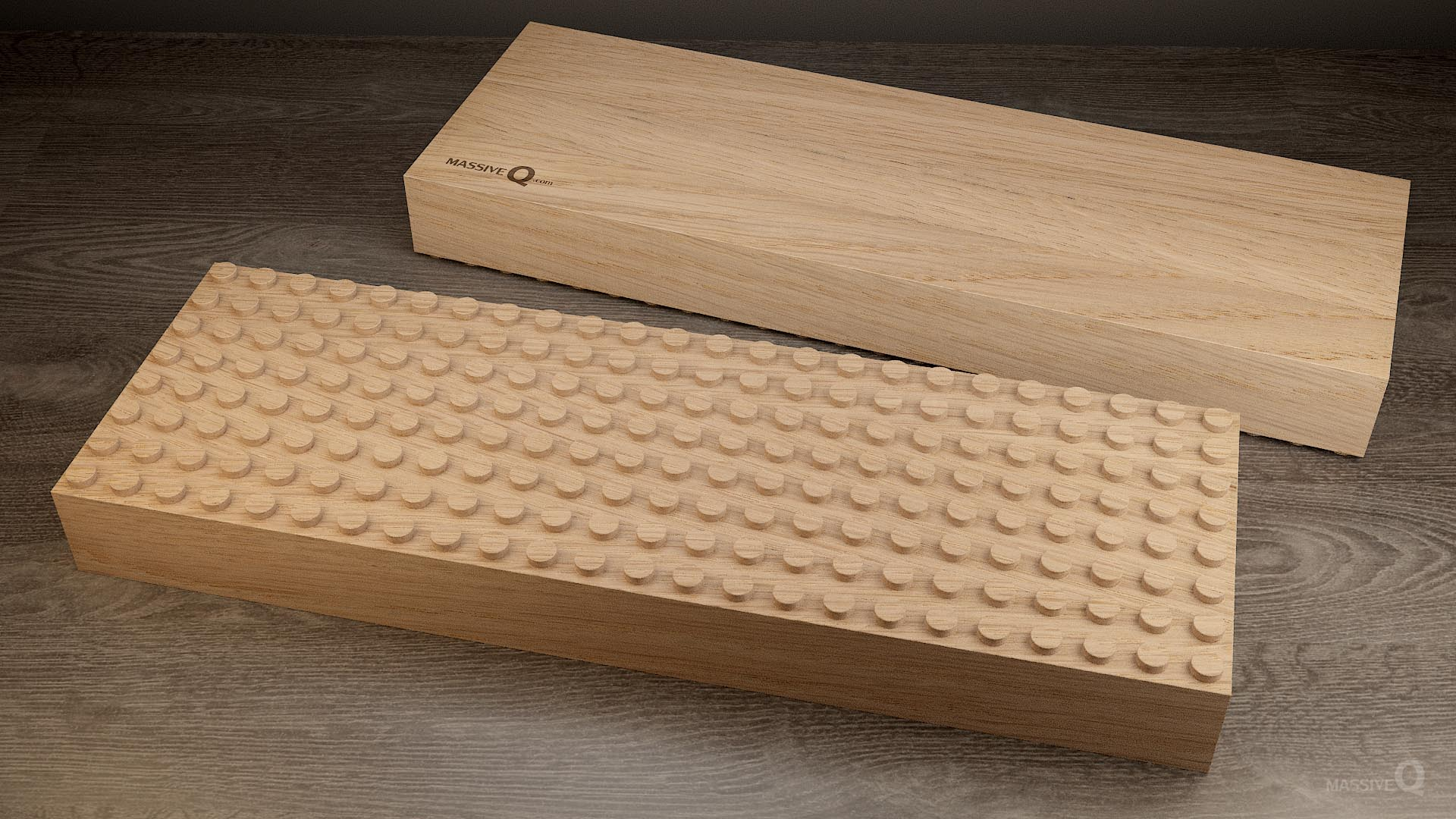 Q Baseplate 8x24x6 – Oak