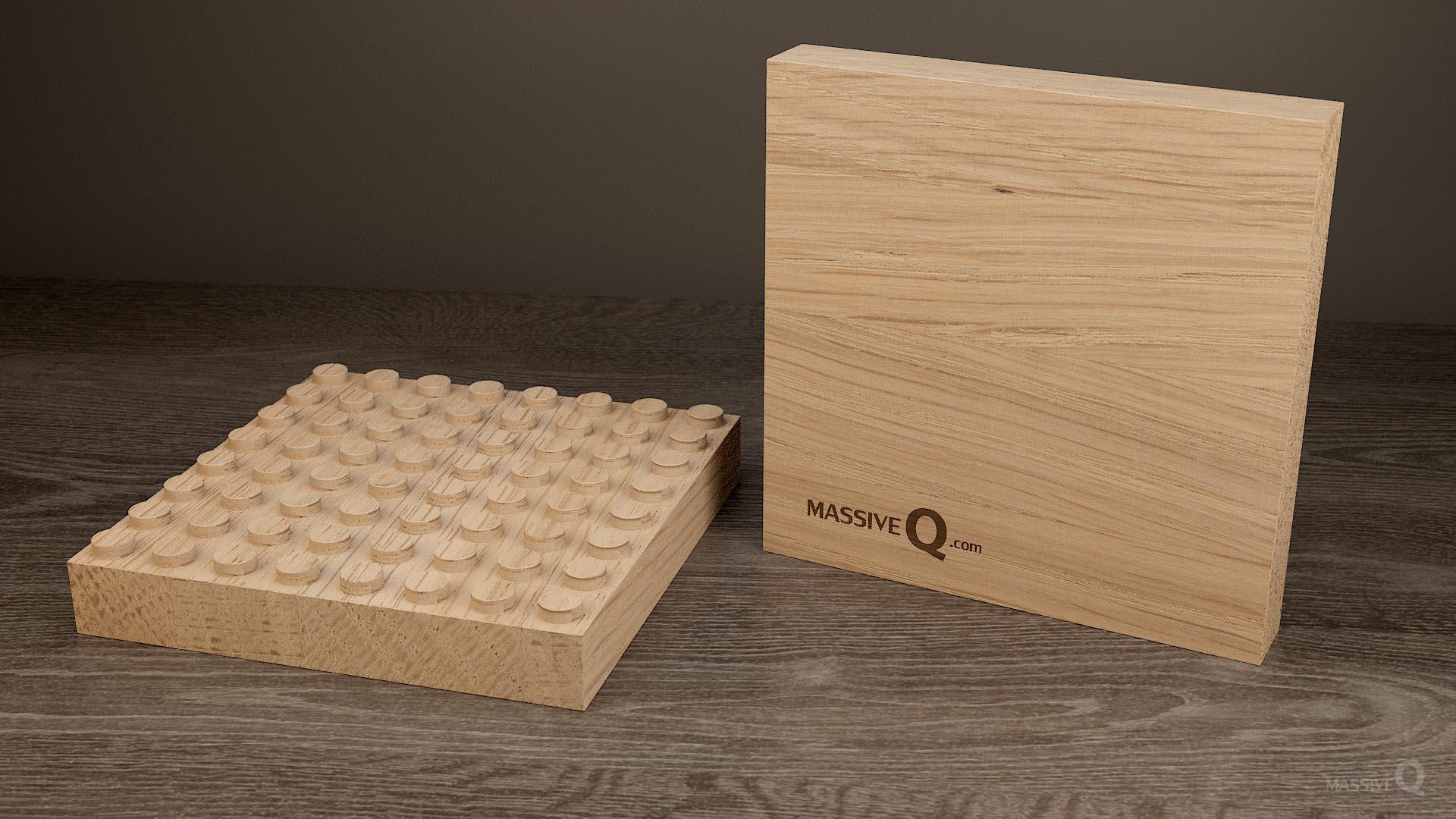 Q Baseplate 8x8x3 – Oak