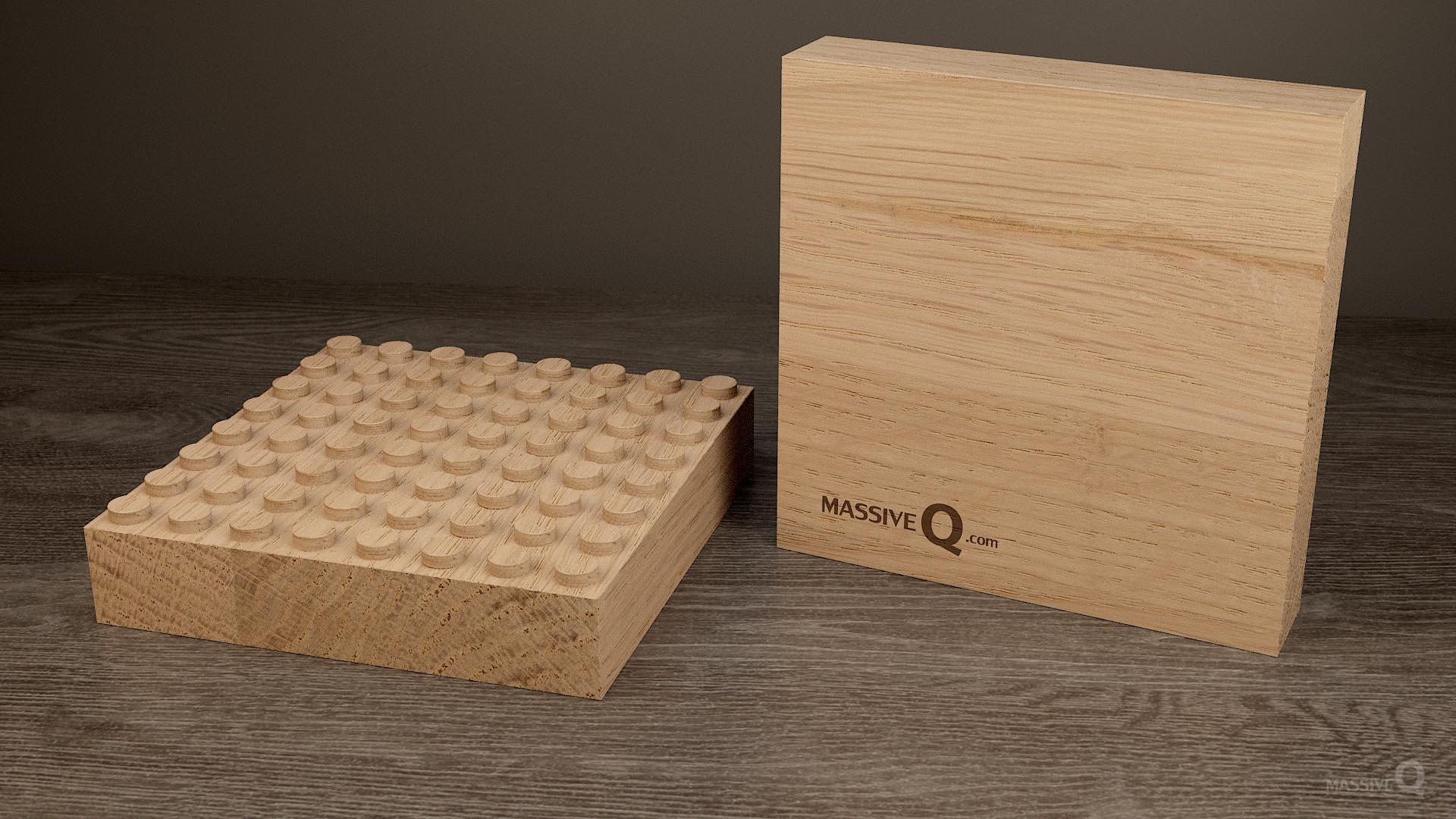 Q Baseplate 8x8x4 – Oak