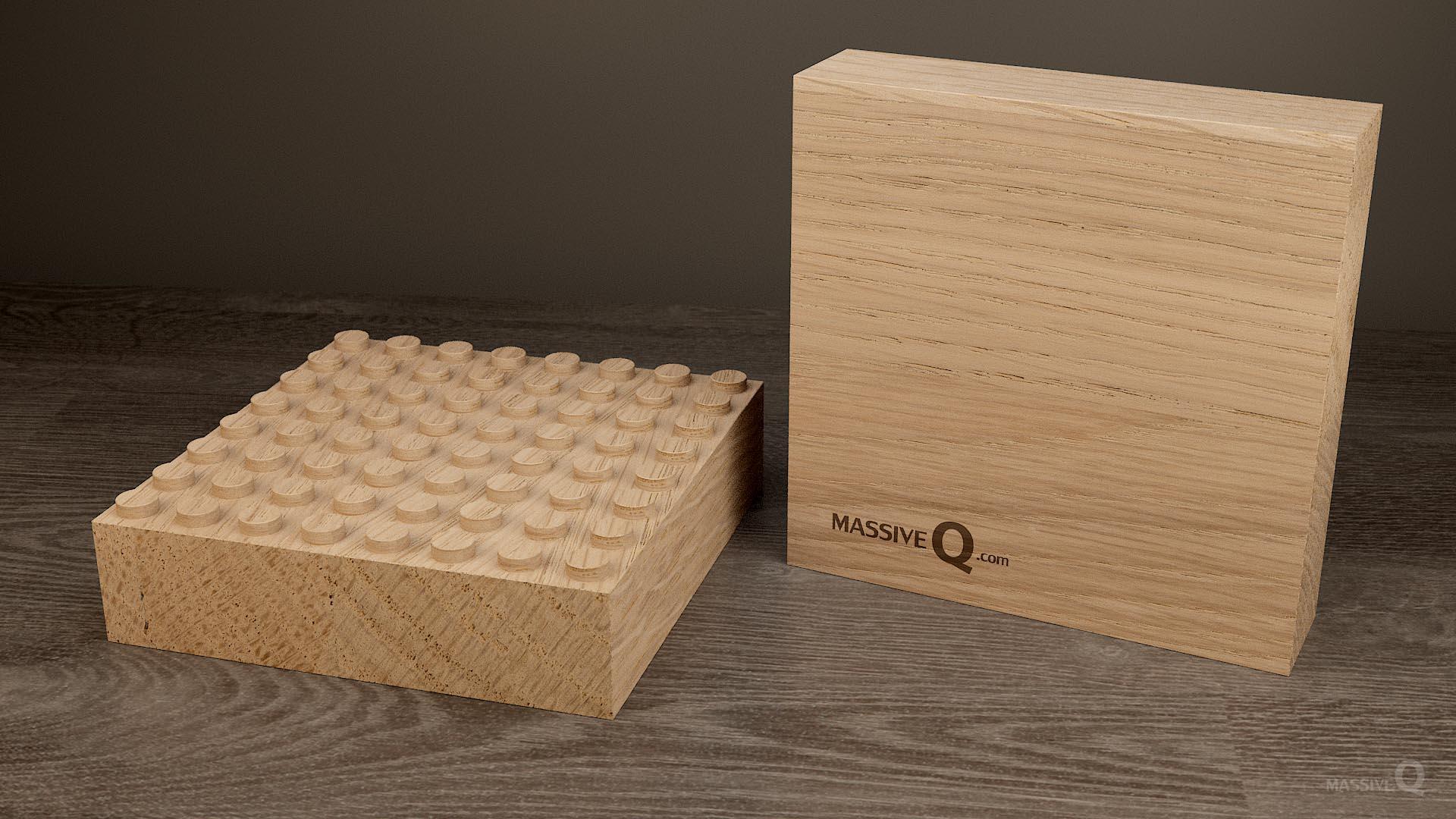 Q Baseplate 8x8x5 – Oak