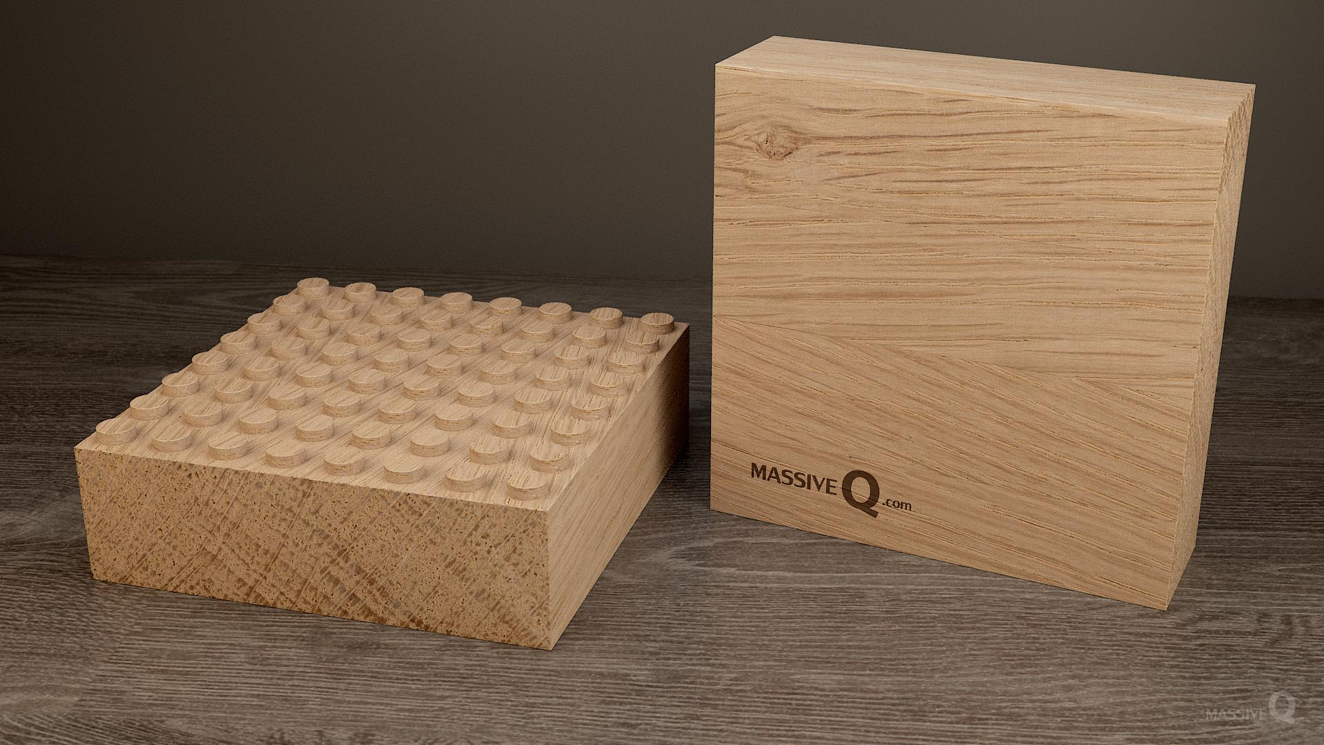 Q Baseplate 8x8x6 – Oak