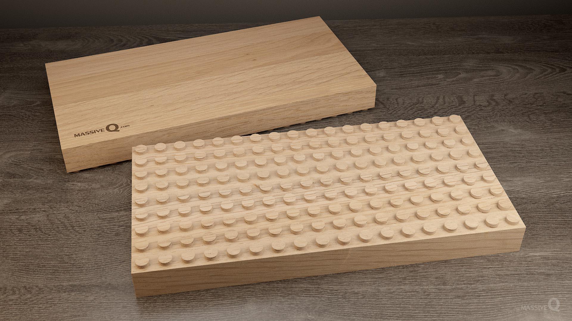 Q Baseplate 9x18x4 – Oak