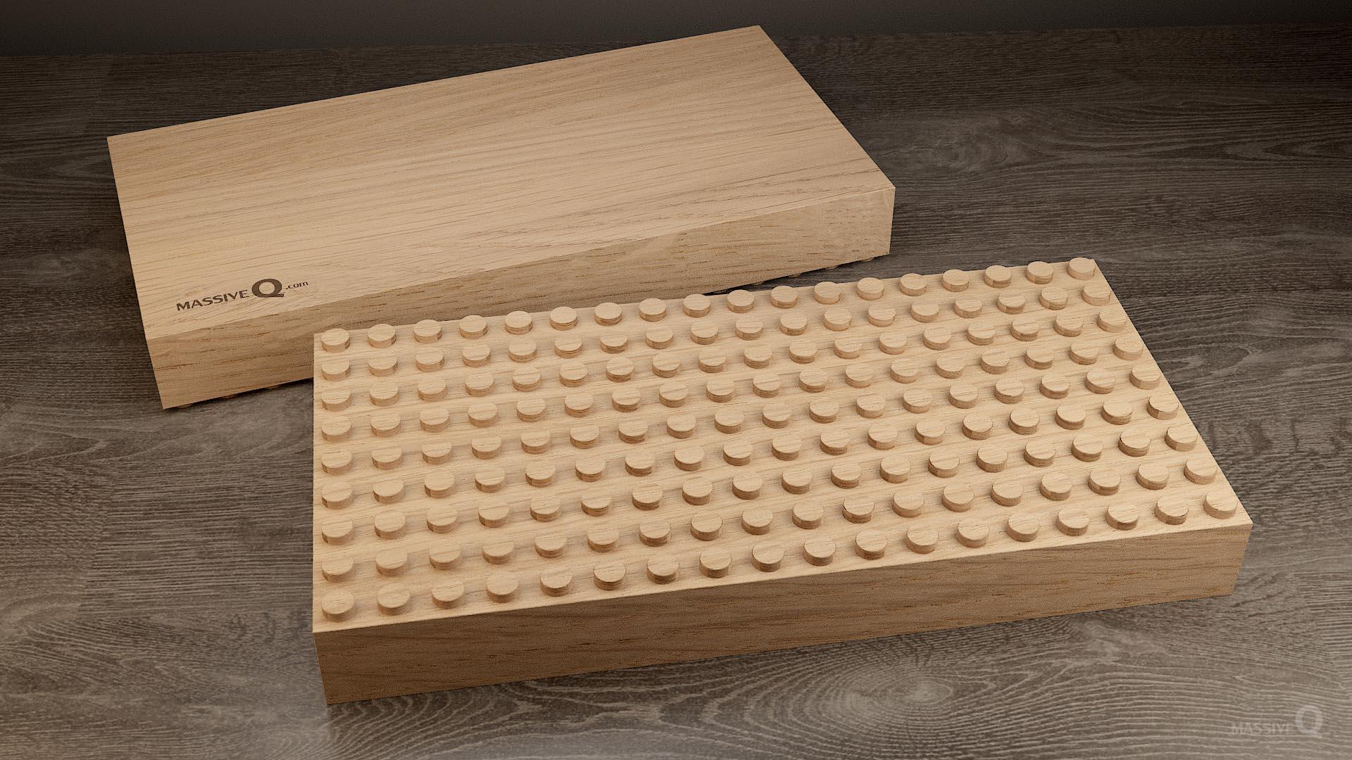 Q Baseplate 9x18x5 – Oak