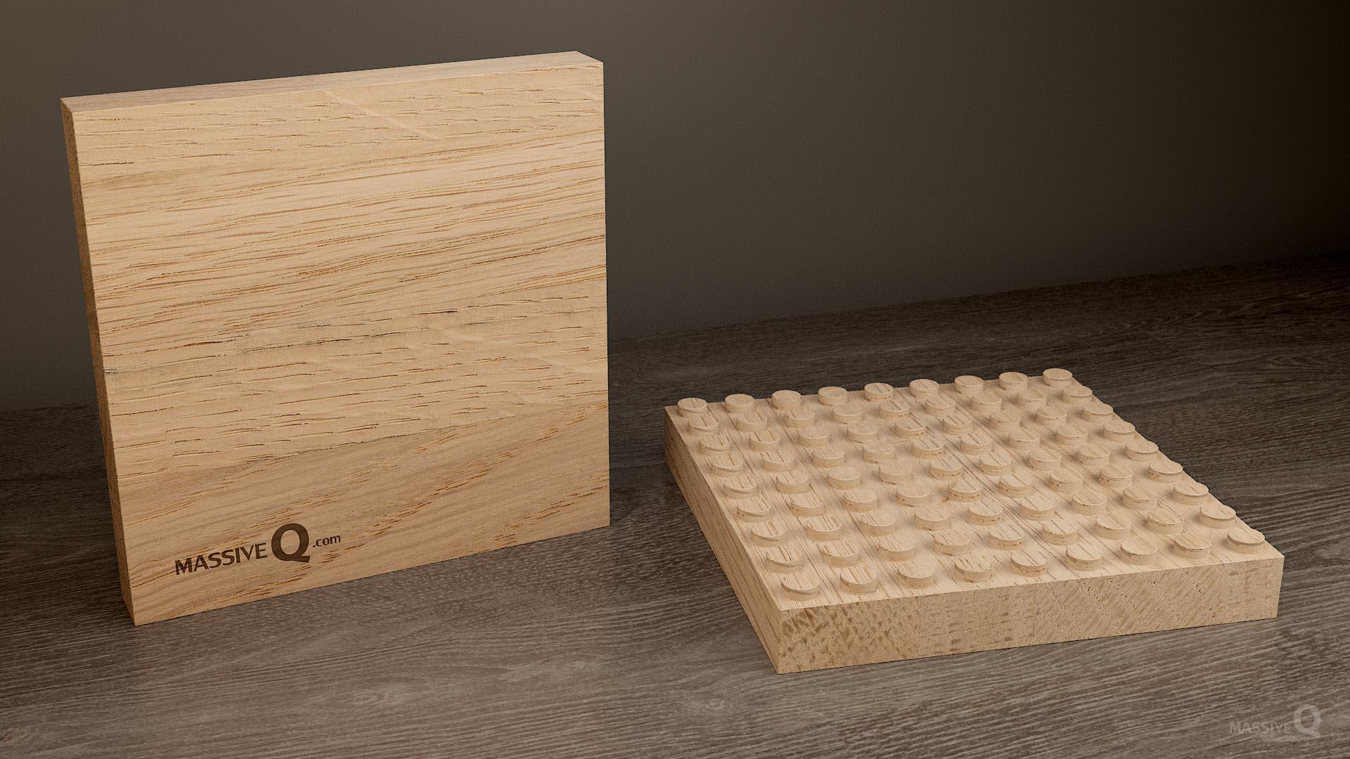 Q Baseplate 9x9x3 – Oak