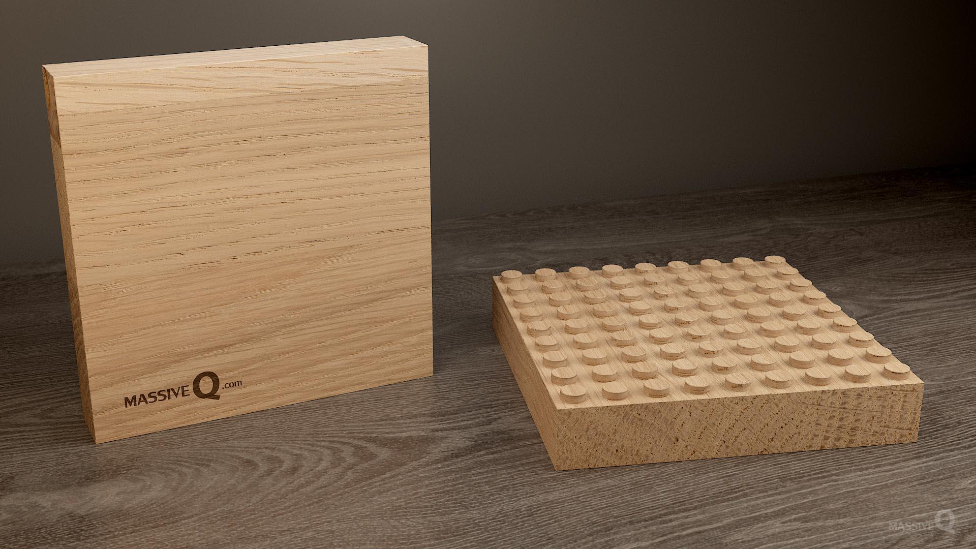 Q Baseplate 9x9x4 – Oak