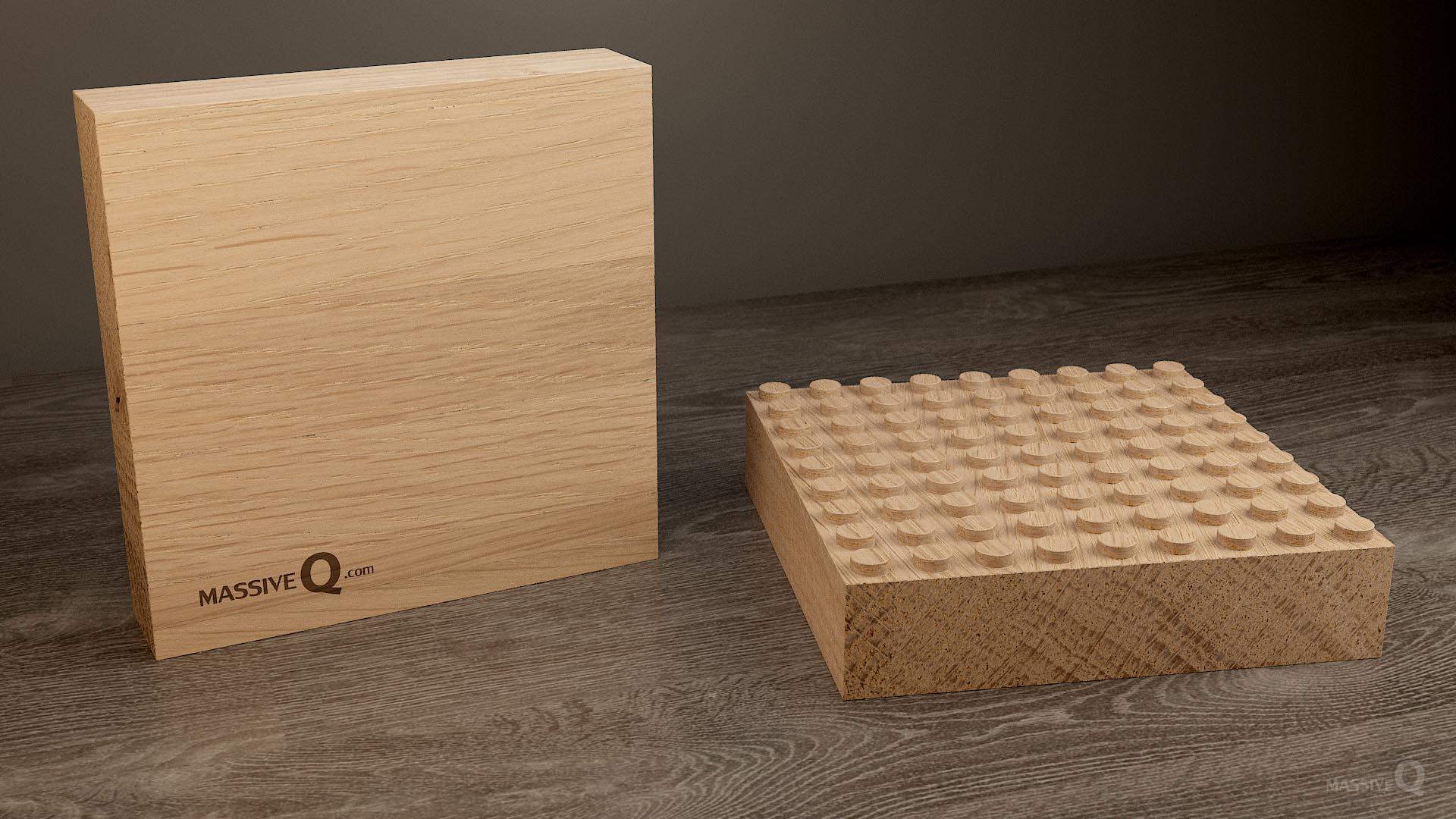 Q Baseplate 9x9x5 – Oak