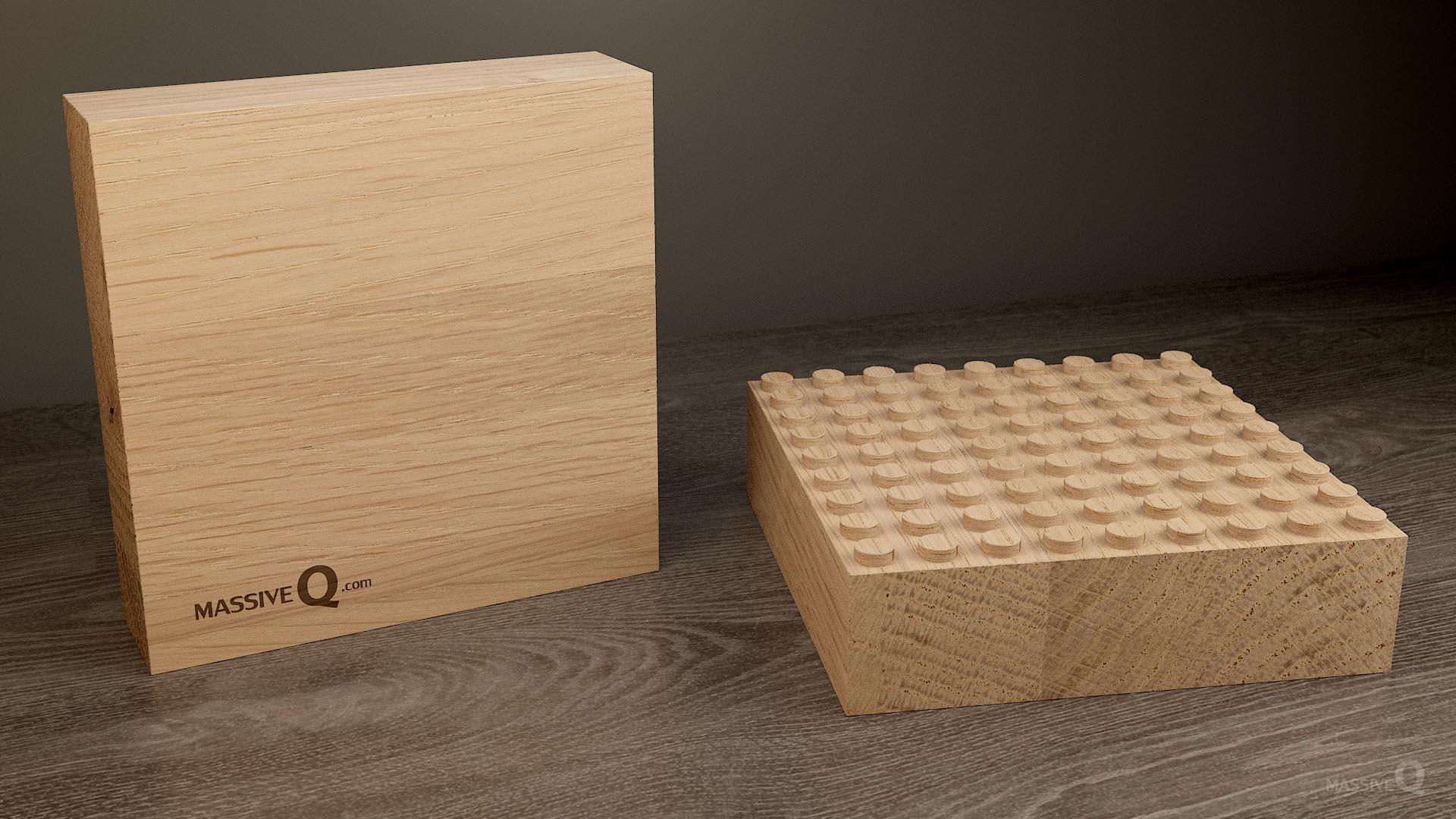 Q Baseplate 9x9x6 – Oak