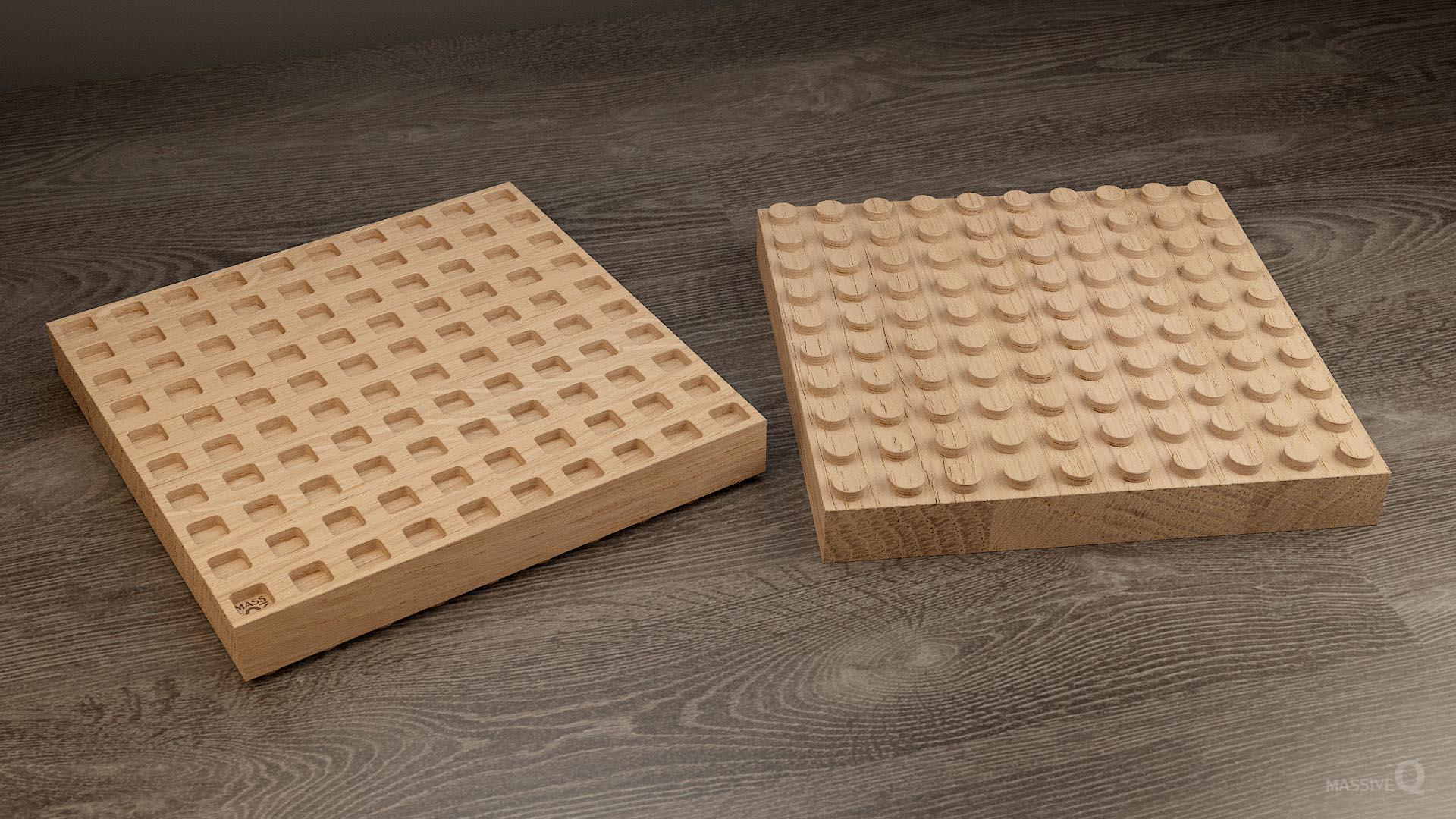 Q Brick 10×10 – Oak