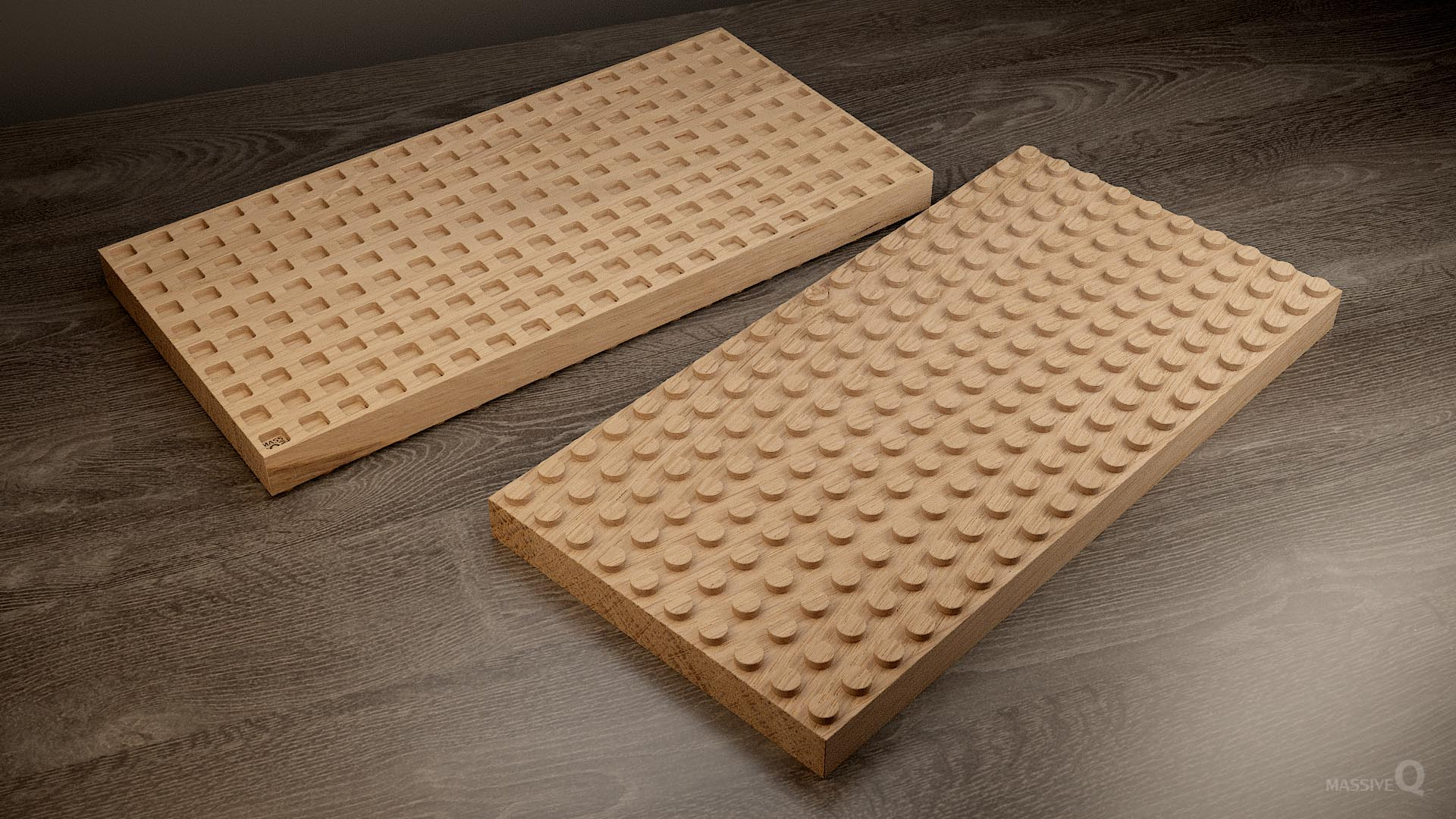Q Brick 10×20 – Oak