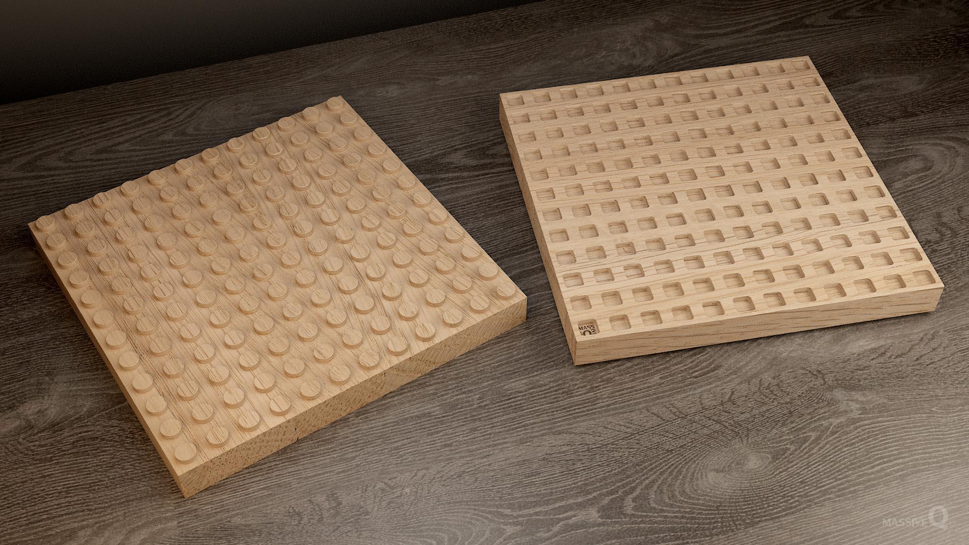 Q Brick 12×12 – Oak