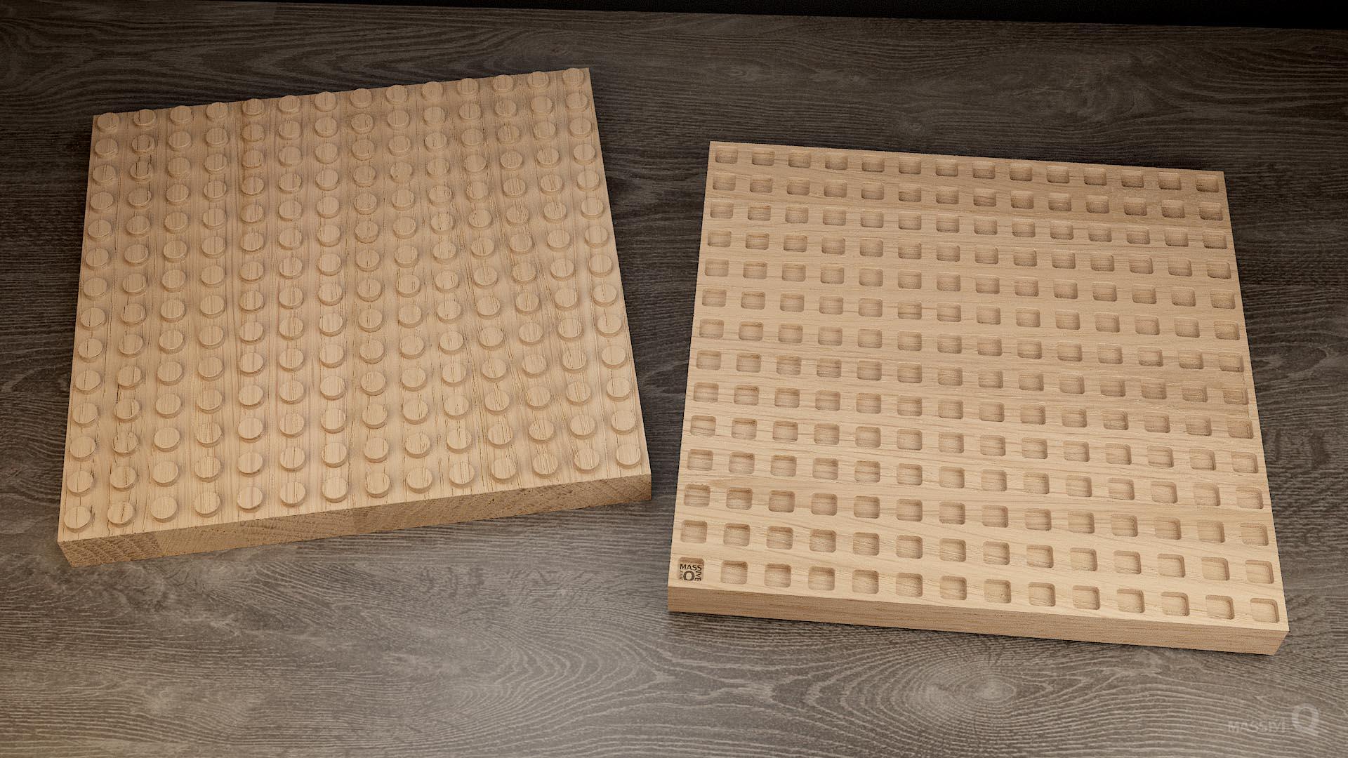 Q Brick 14×14 – Oak