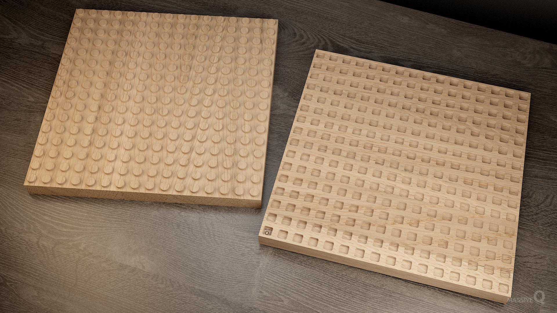 Q Brick 16×16 – Oak