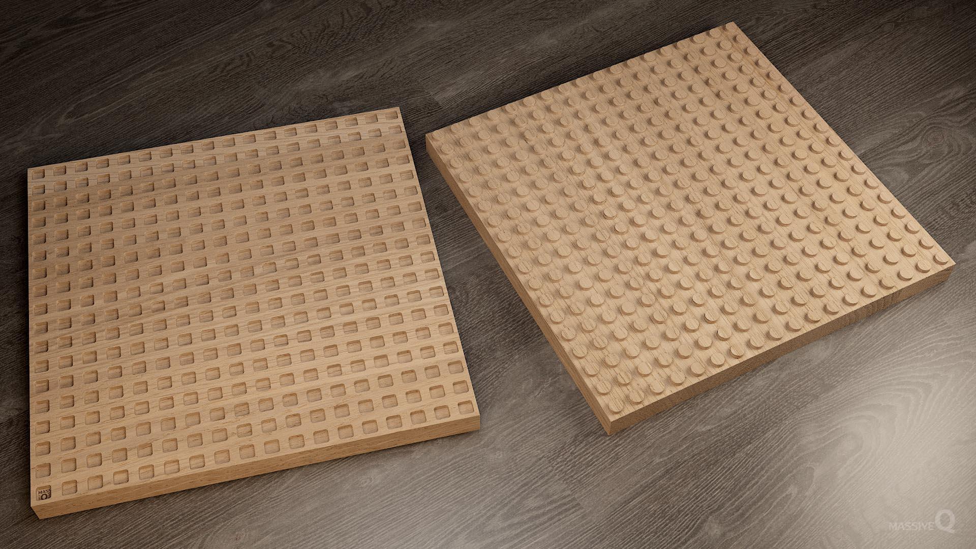 Q Brick 18×18 – Oak