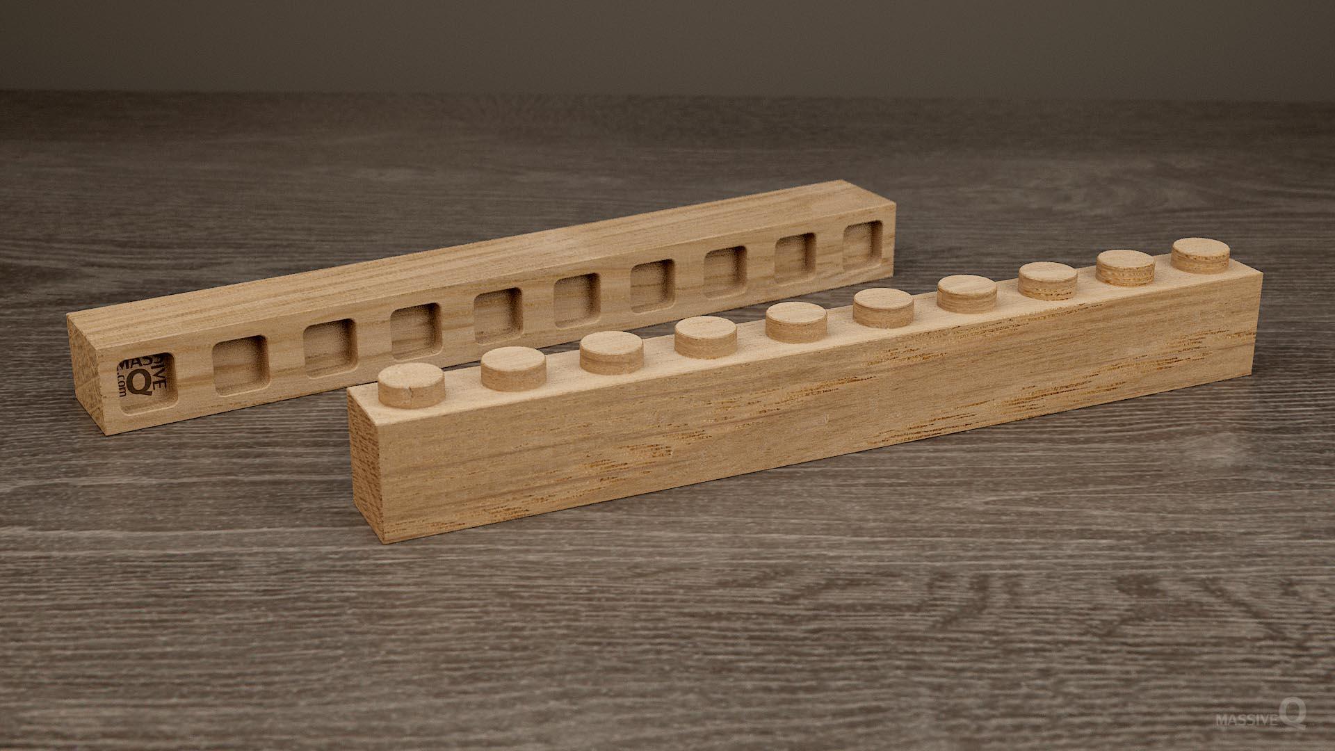 Q Brick 1×10 – Oak