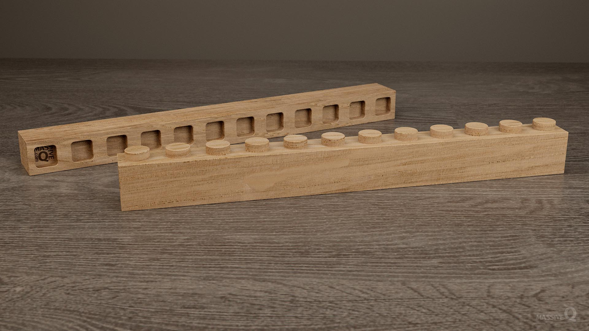 Q Brick 1×12 – Oak