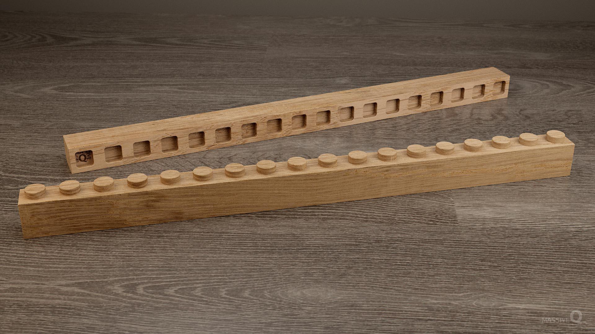 Q Brick 1×18 – Oak
