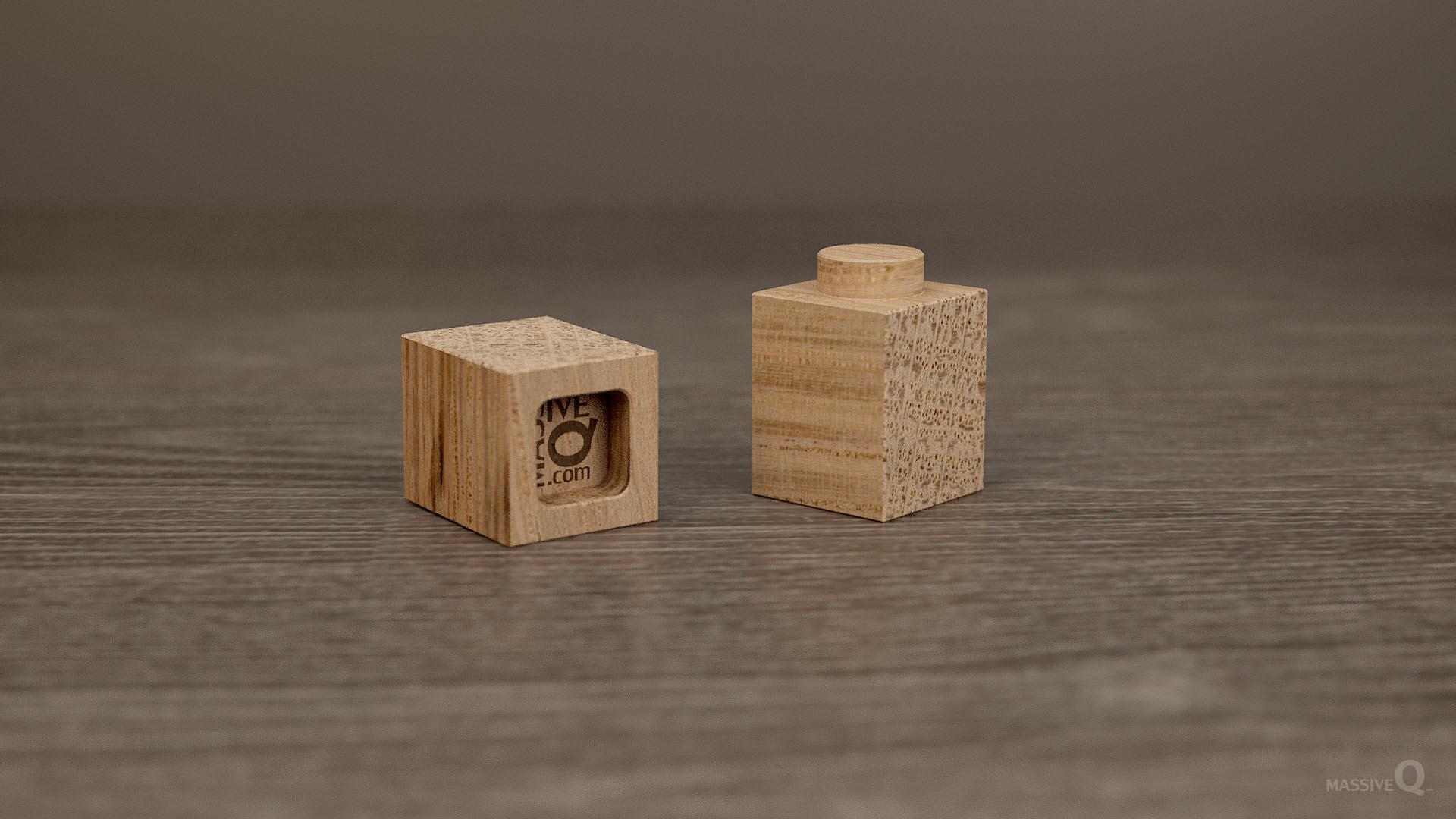 Q Brick 1×1 – Oak