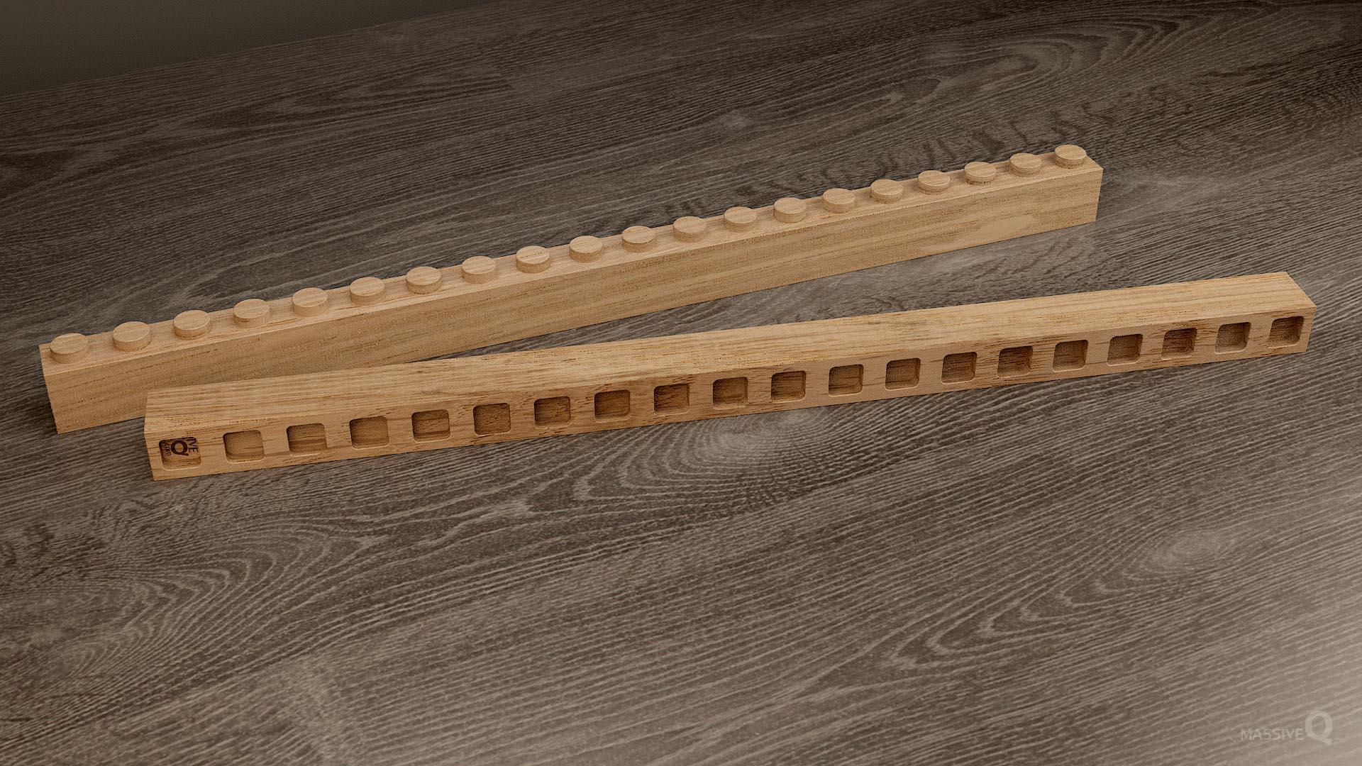 Q Brick 1×20 – Oak