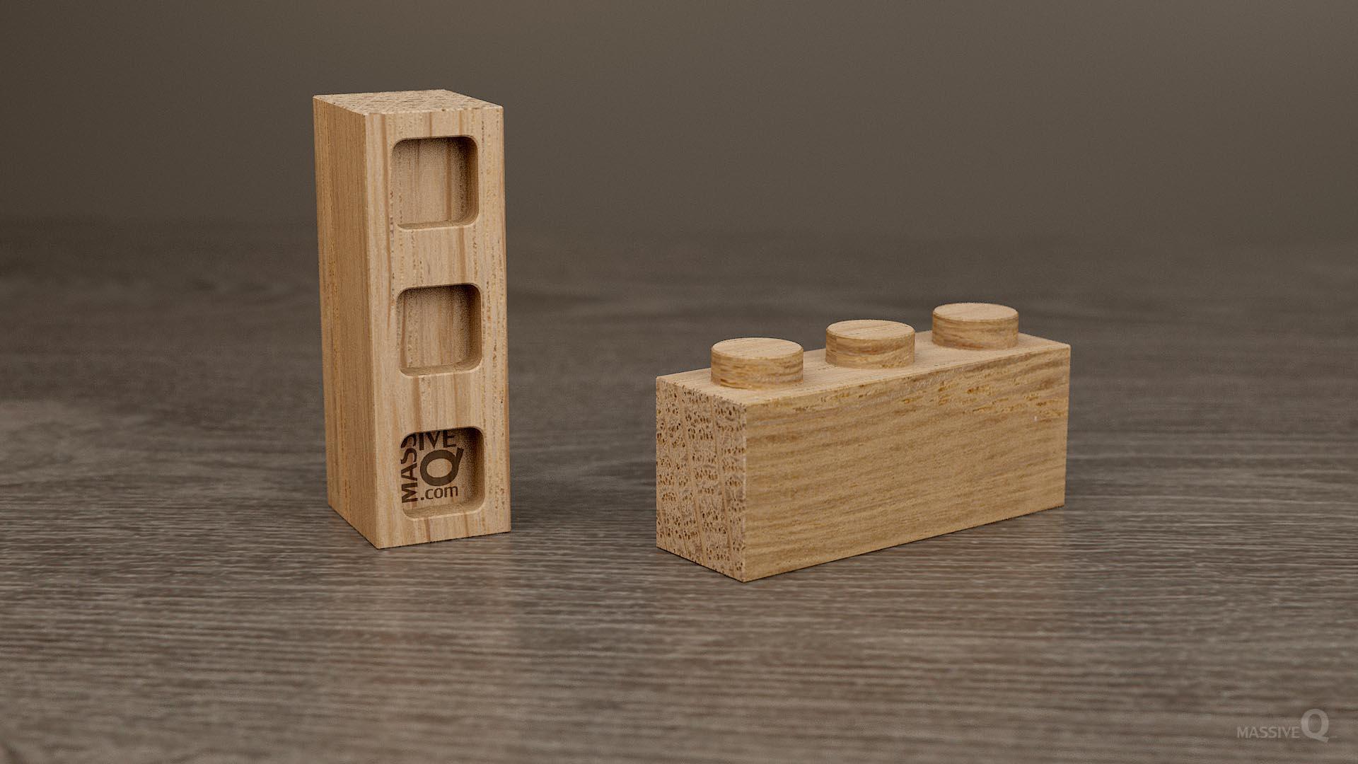 Q Brick 1×3 – Oak