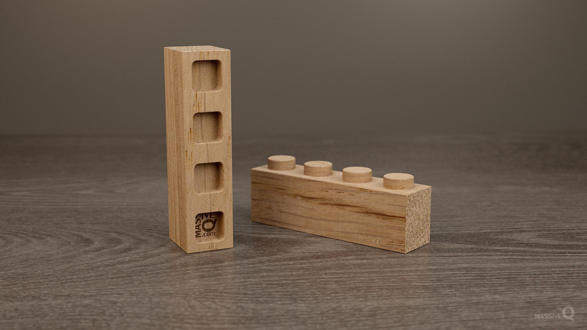 Q Brick 1×4 – Oak
