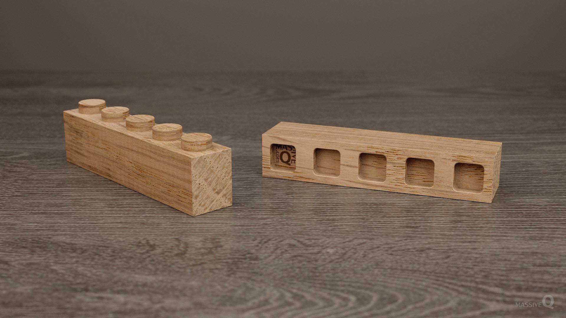 Q Brick 1×5 – Oak