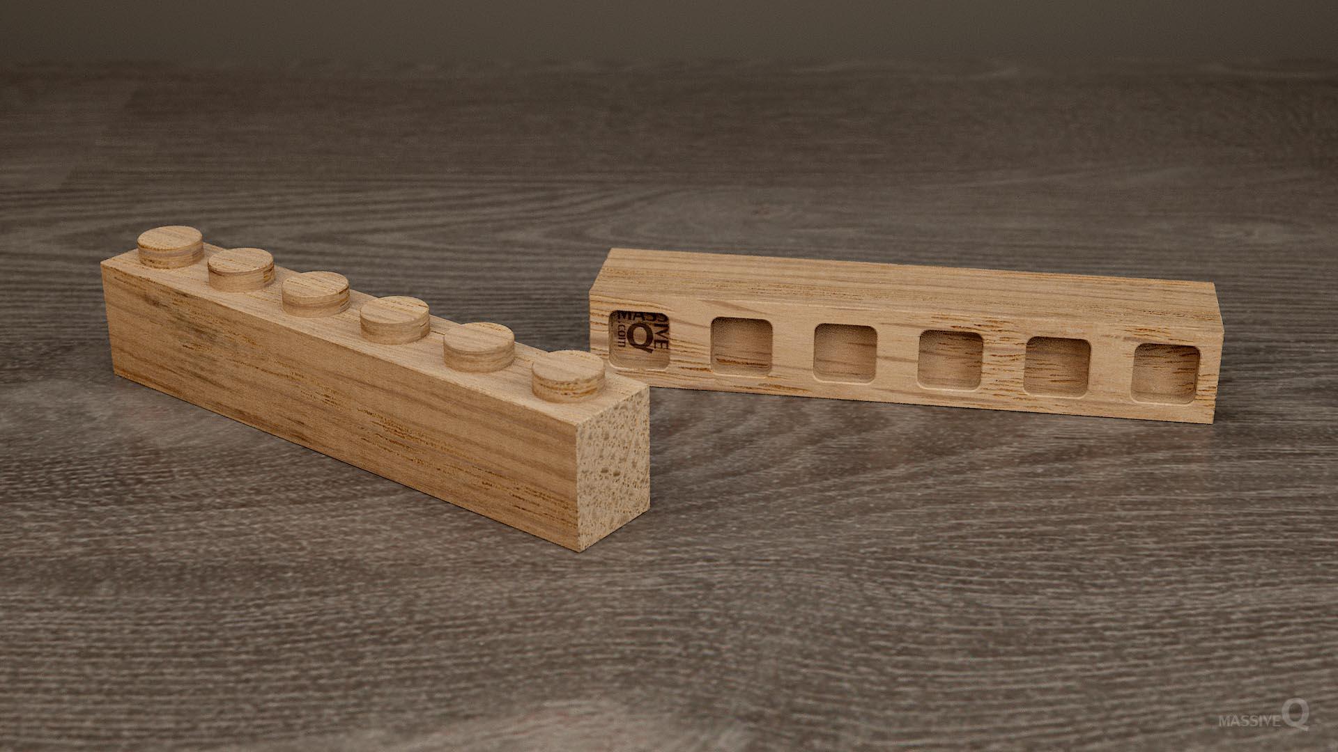 Q Brick 1×6 – Oak