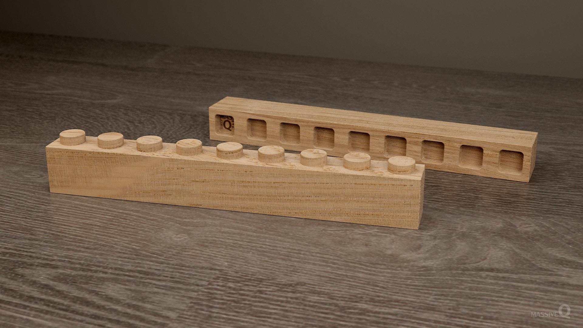 Q Brick 1×9 – Oak