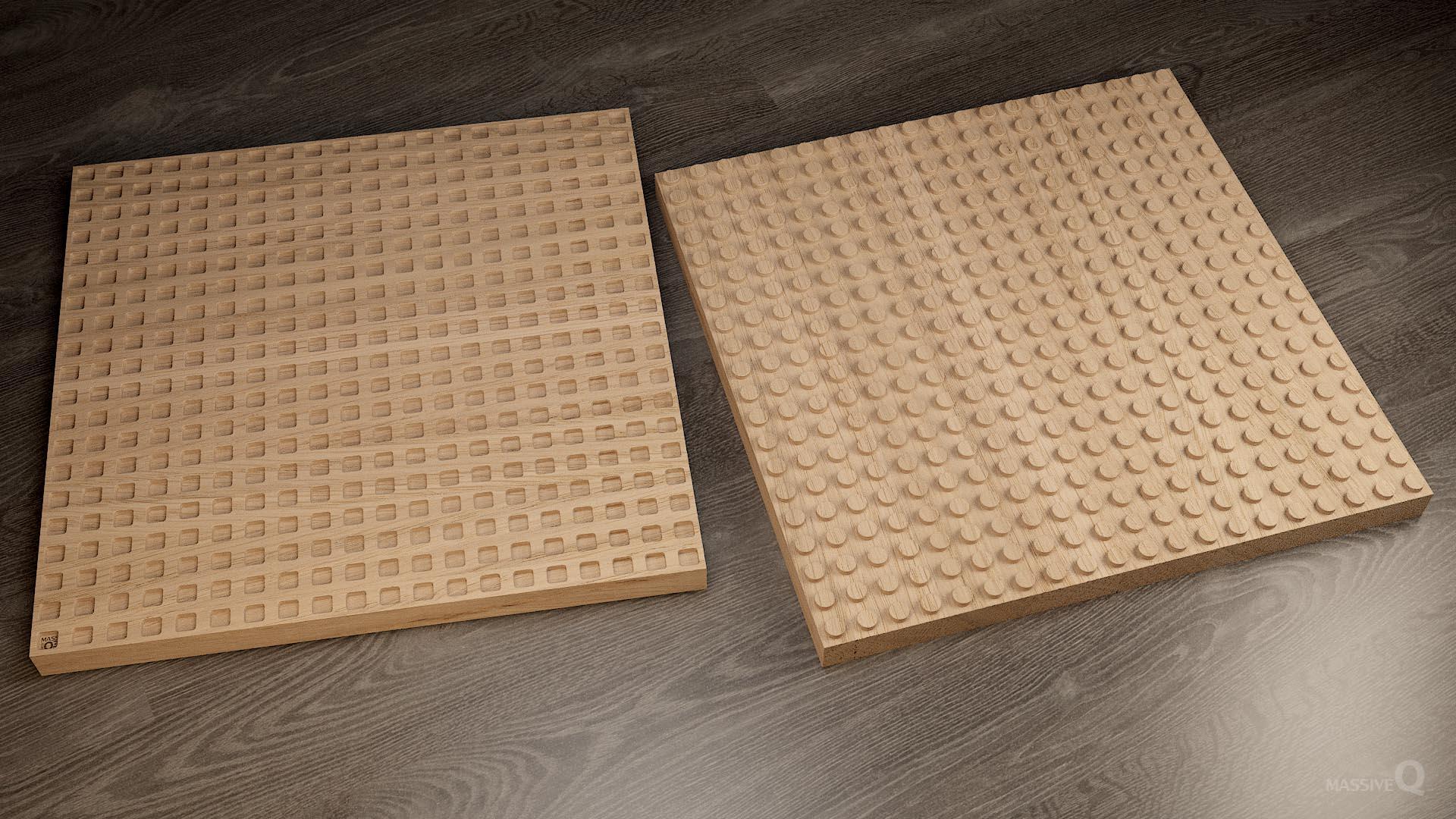 Q Brick 20×20 – Oak