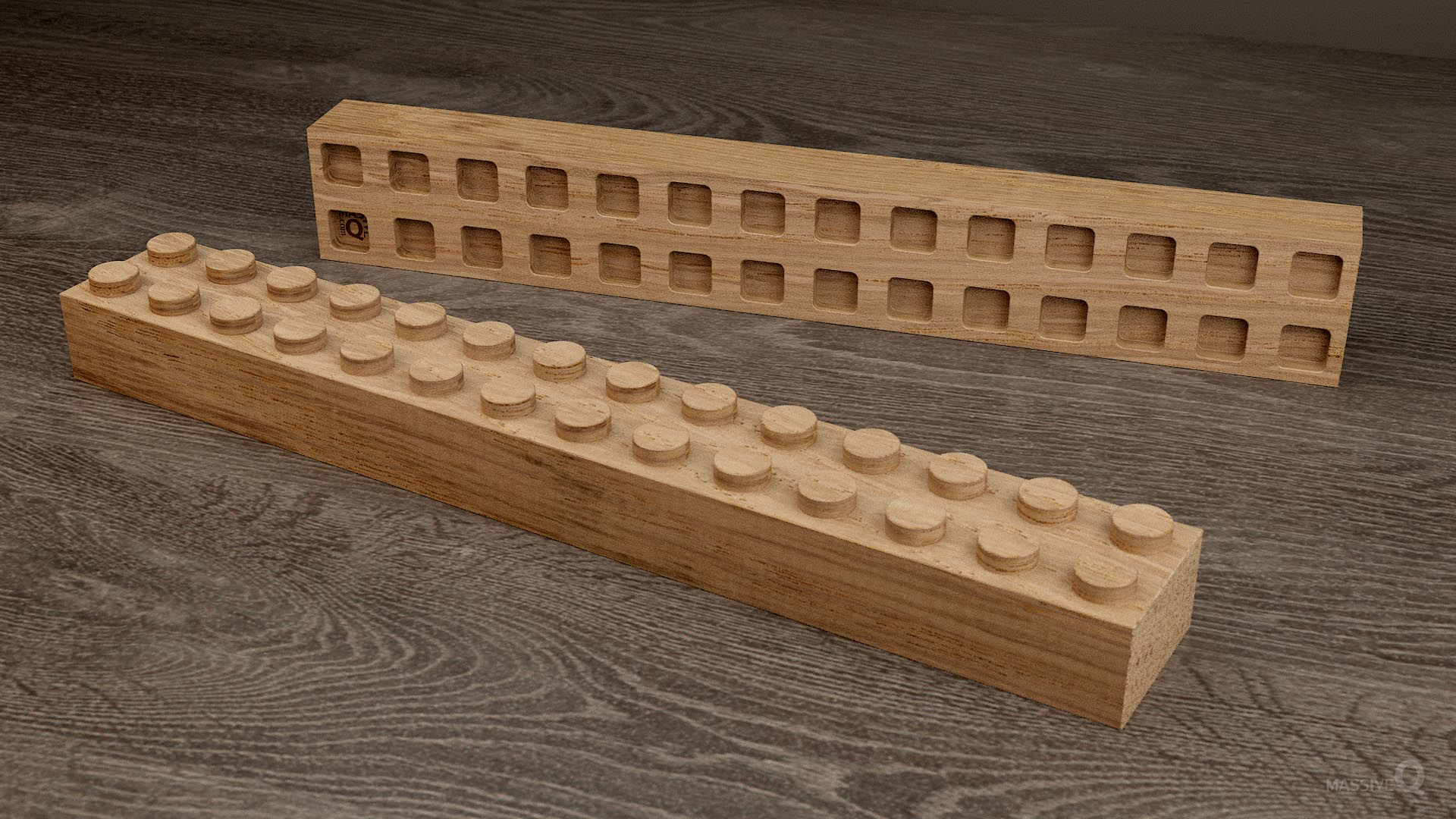 Q Brick 2×14 – Oak