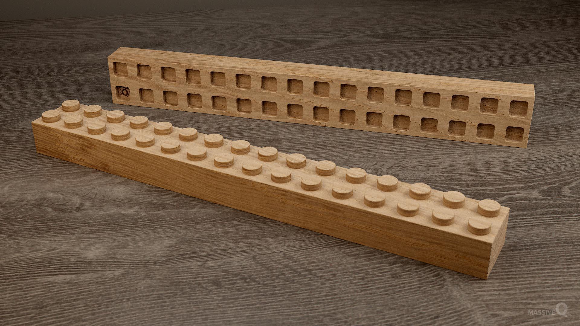 Q Brick 2×16 – Oak