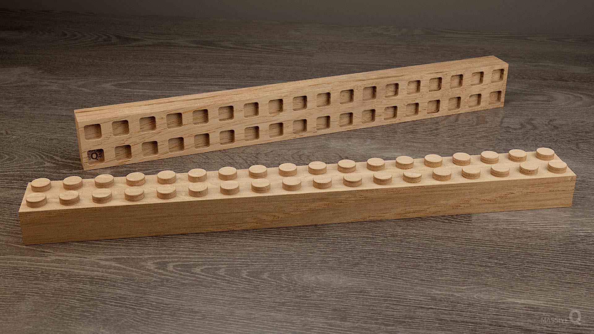 Q Brick 2×18 – Oak