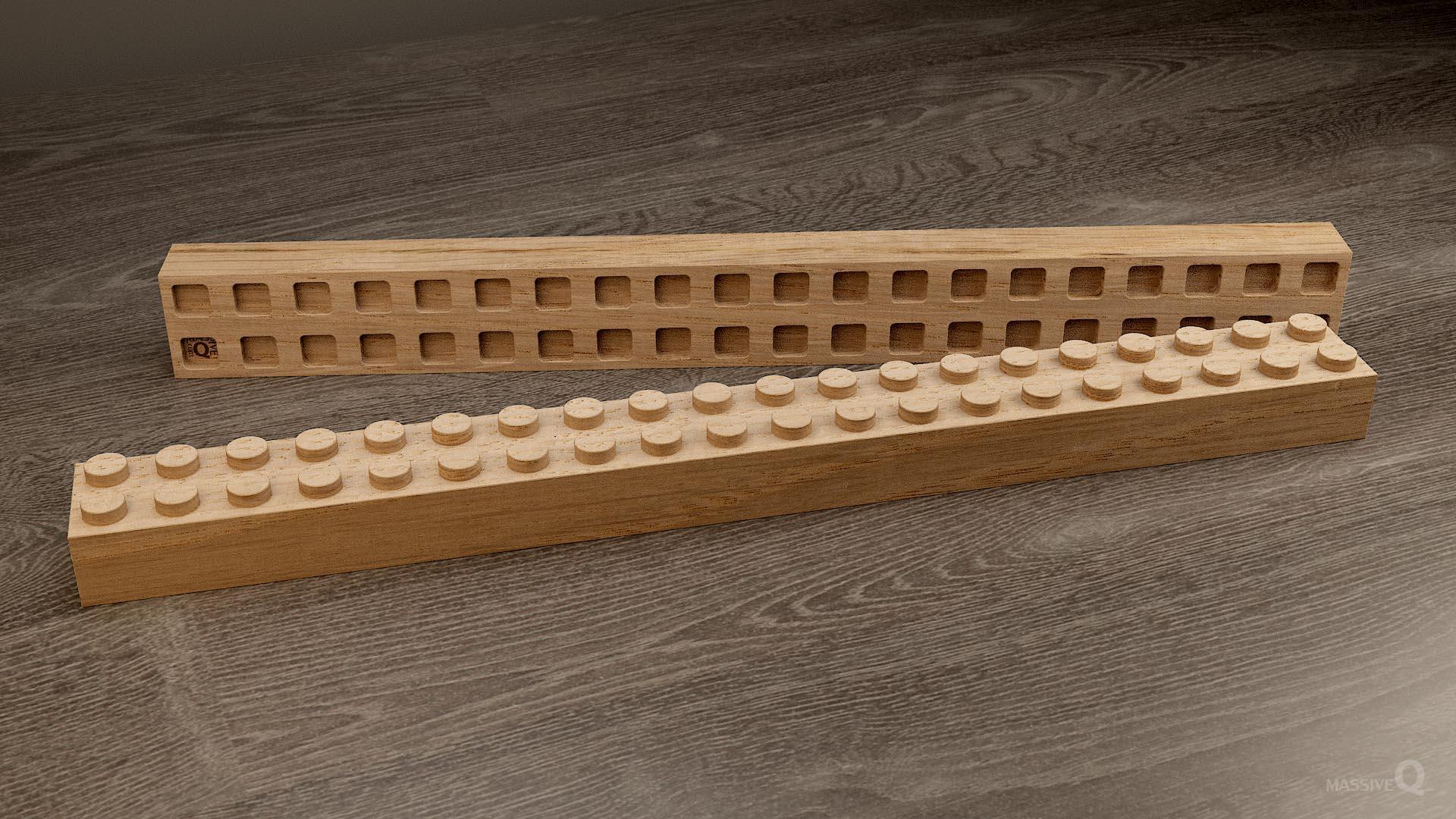 Q Brick 2×20 – Oak