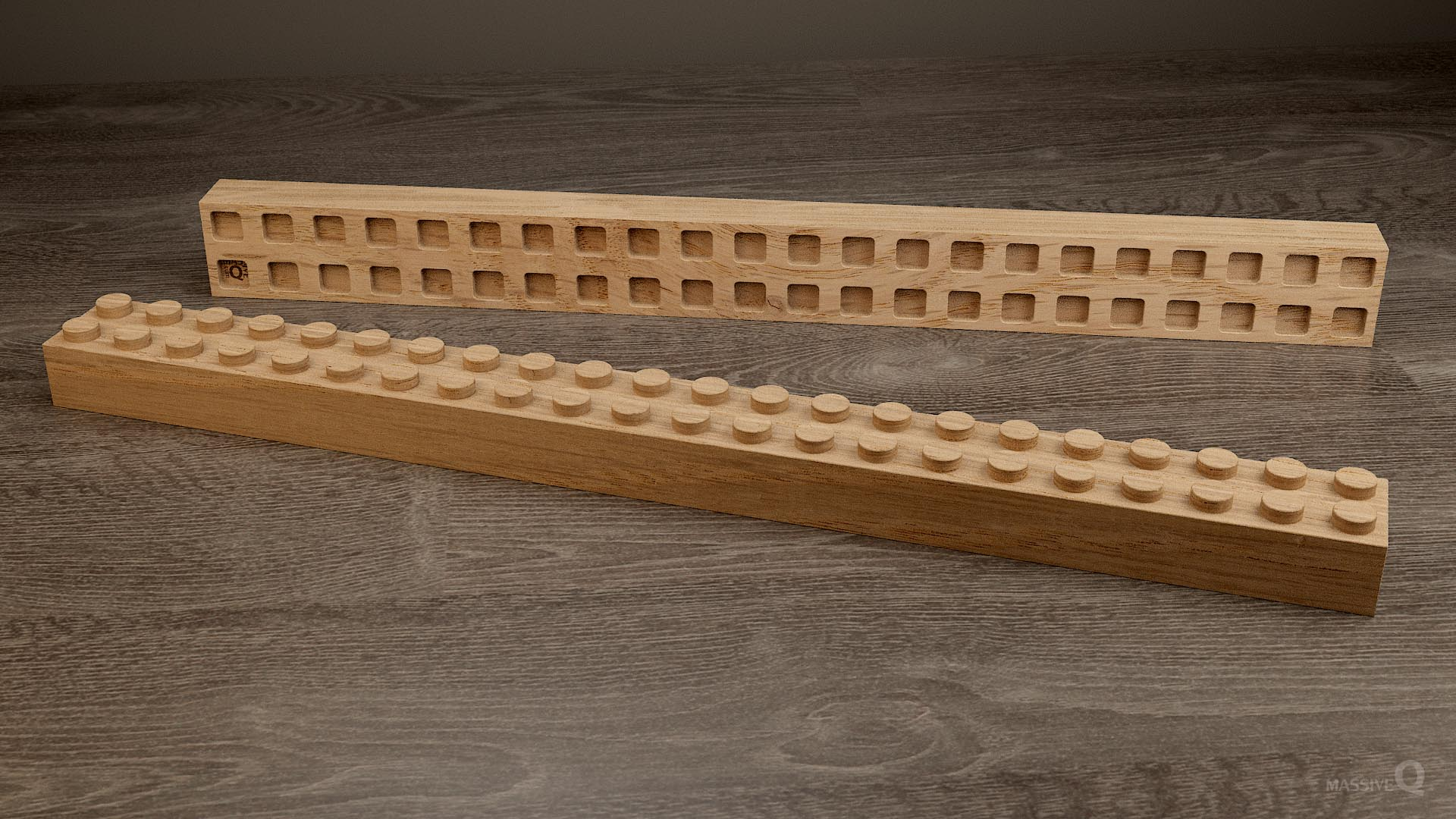 Q Brick 2×22 – Oak