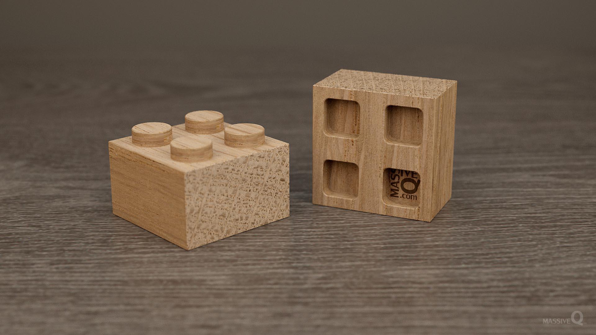 Q Brick 2×2 – Oak