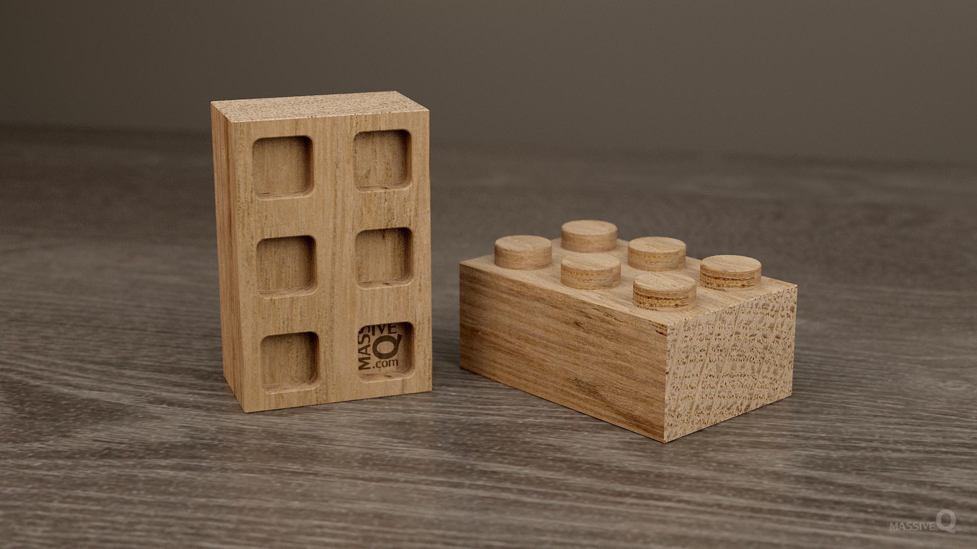 Q Brick 2×3 – Oak