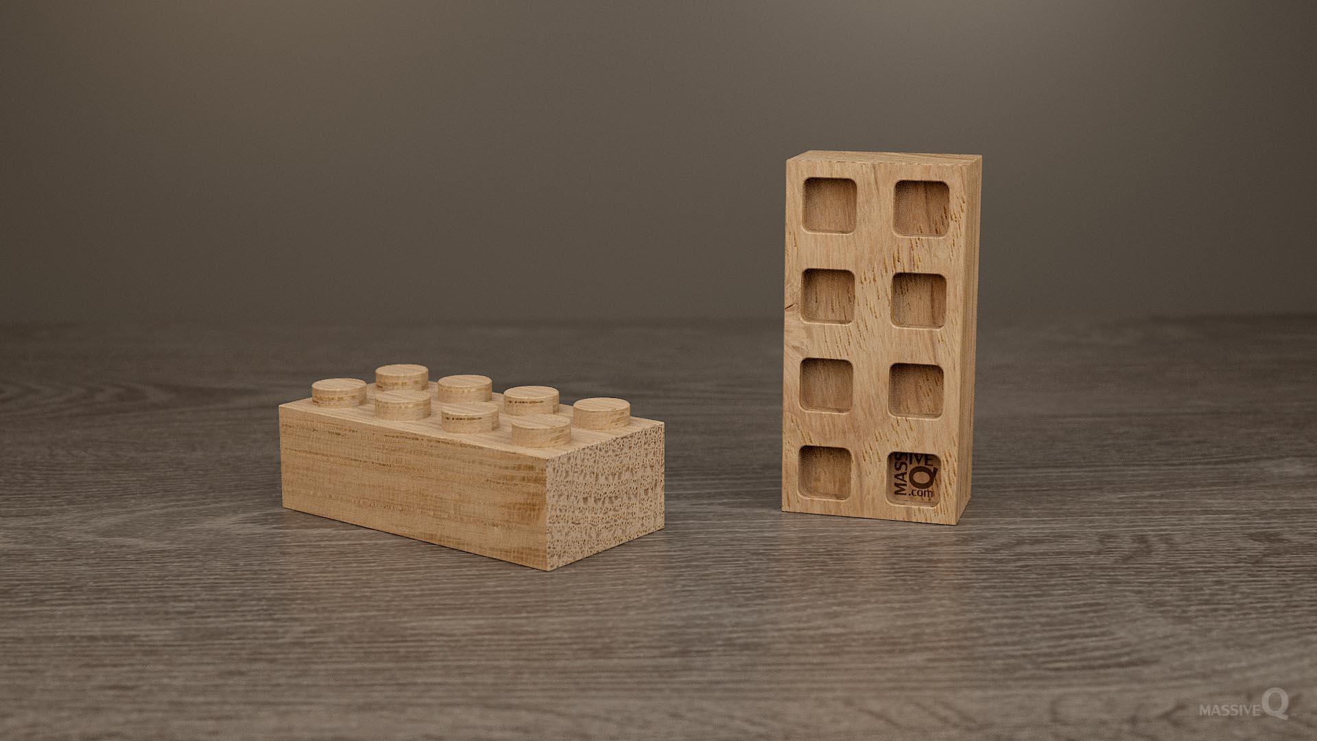 Q Brick 2×4 – Oak