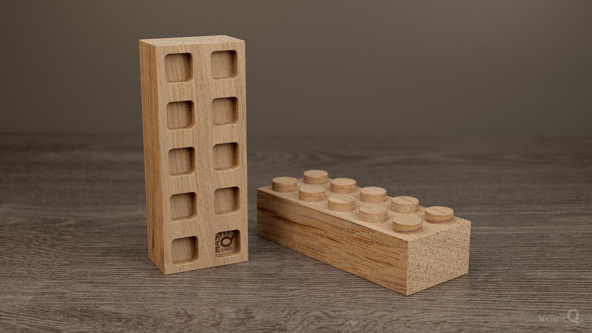 Q Brick 2×5 – Oak
