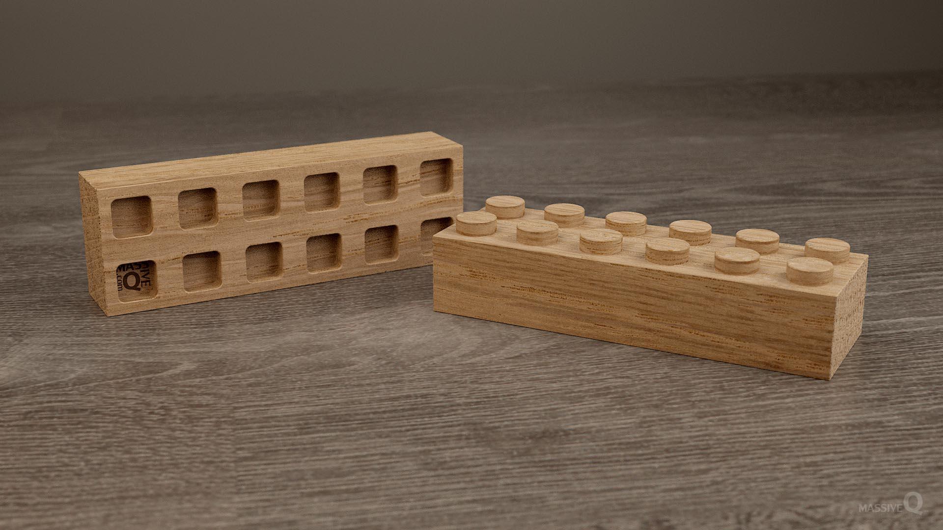 Q Brick 2×6 – Oak
