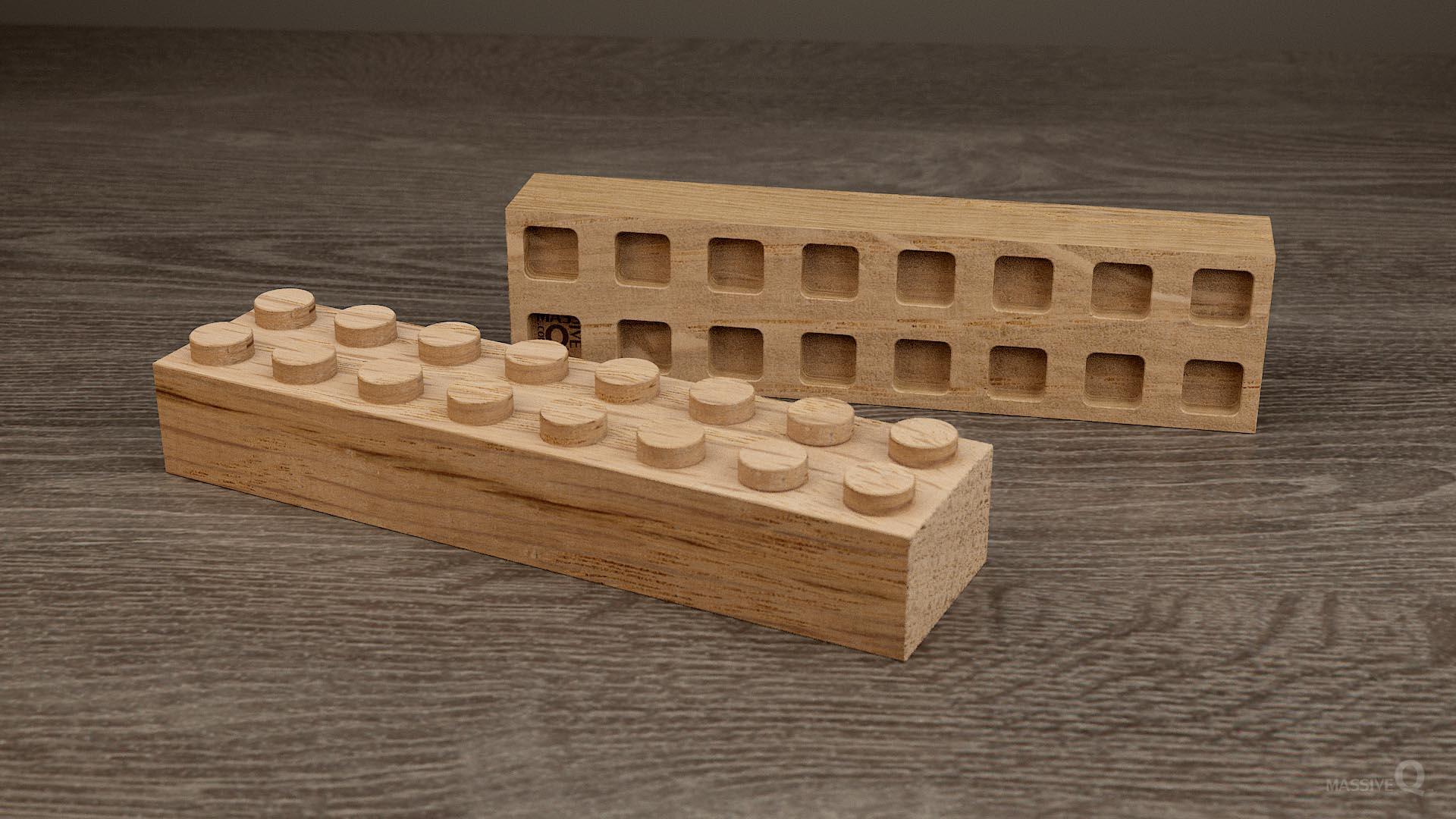 Q Brick 2×8 – Oak