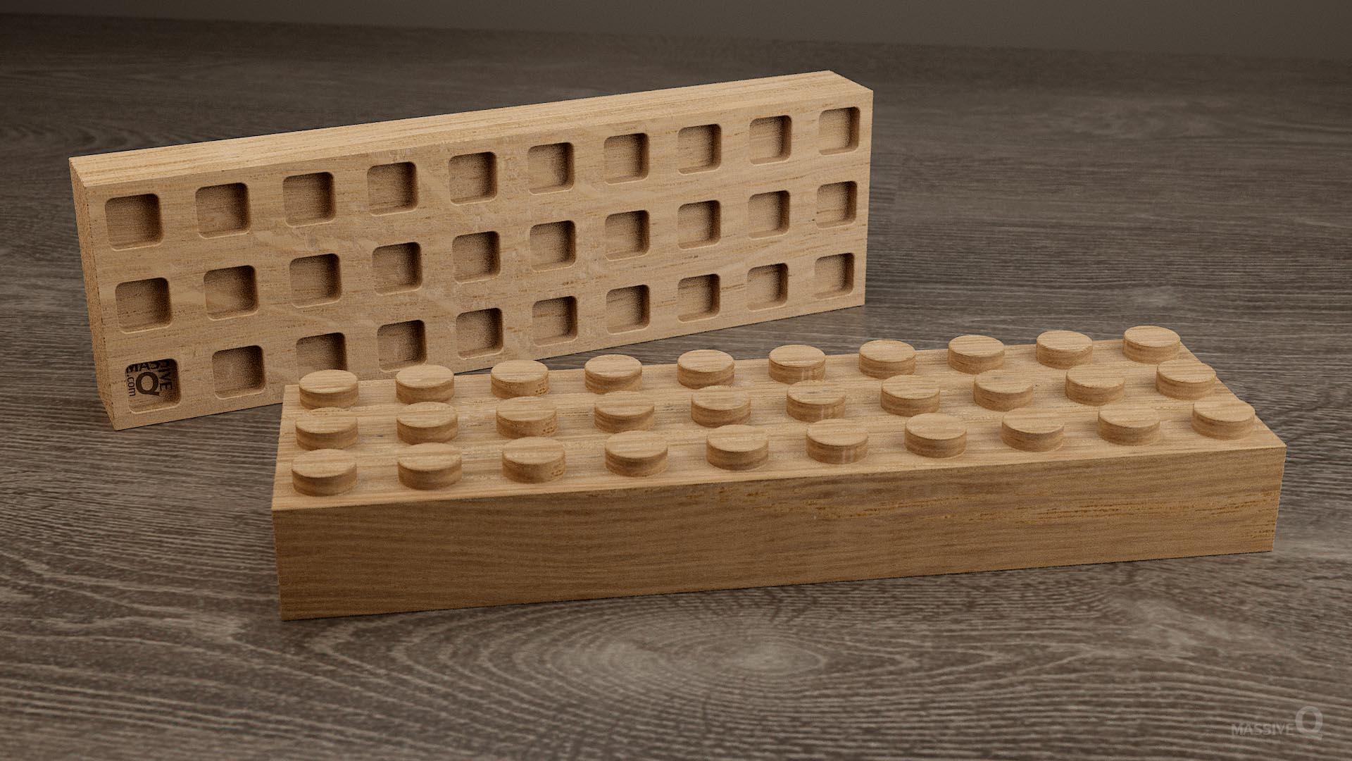 Q Brick 3×10 – Oak