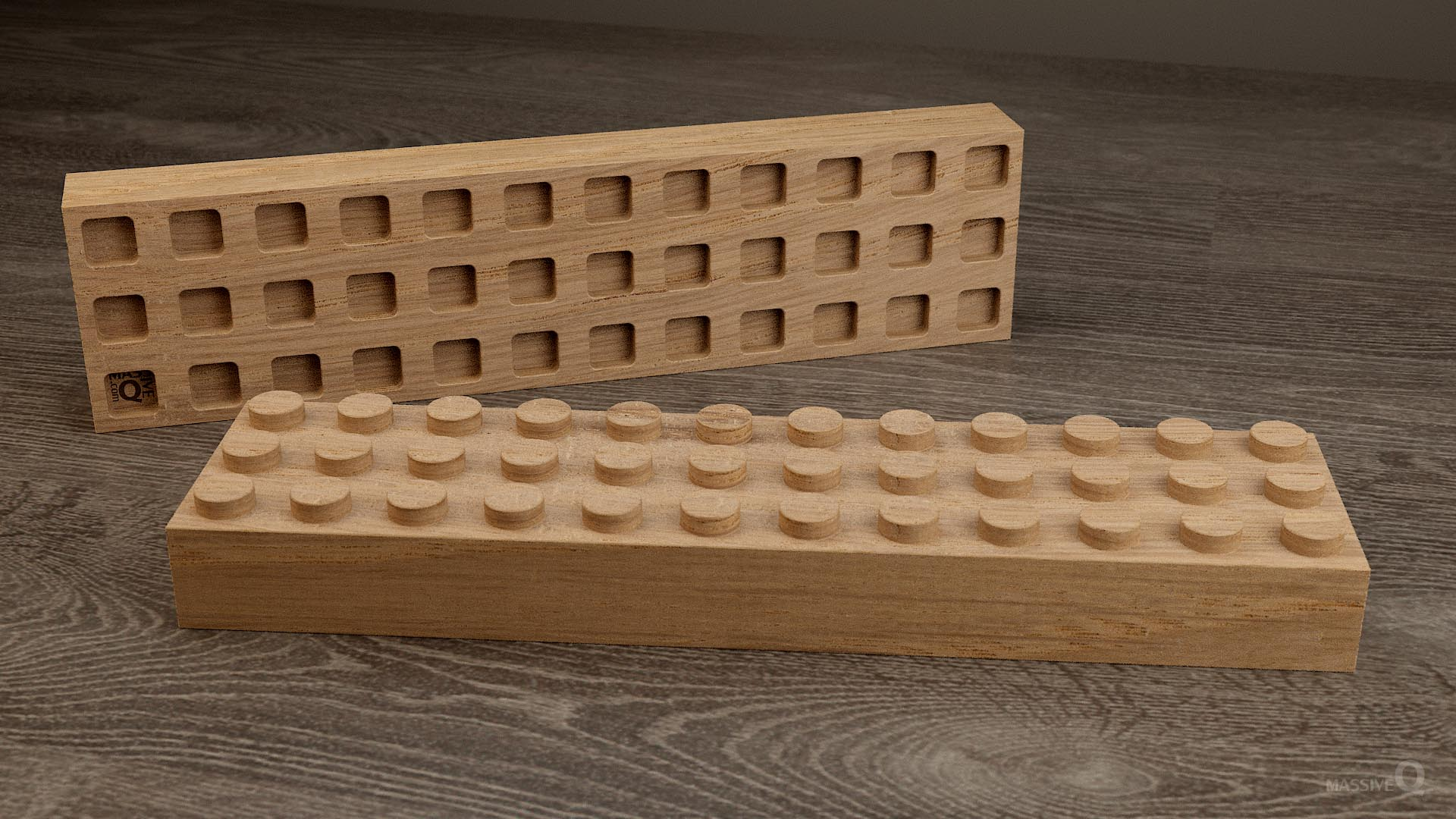 Q Brick 3×12 – Oak
