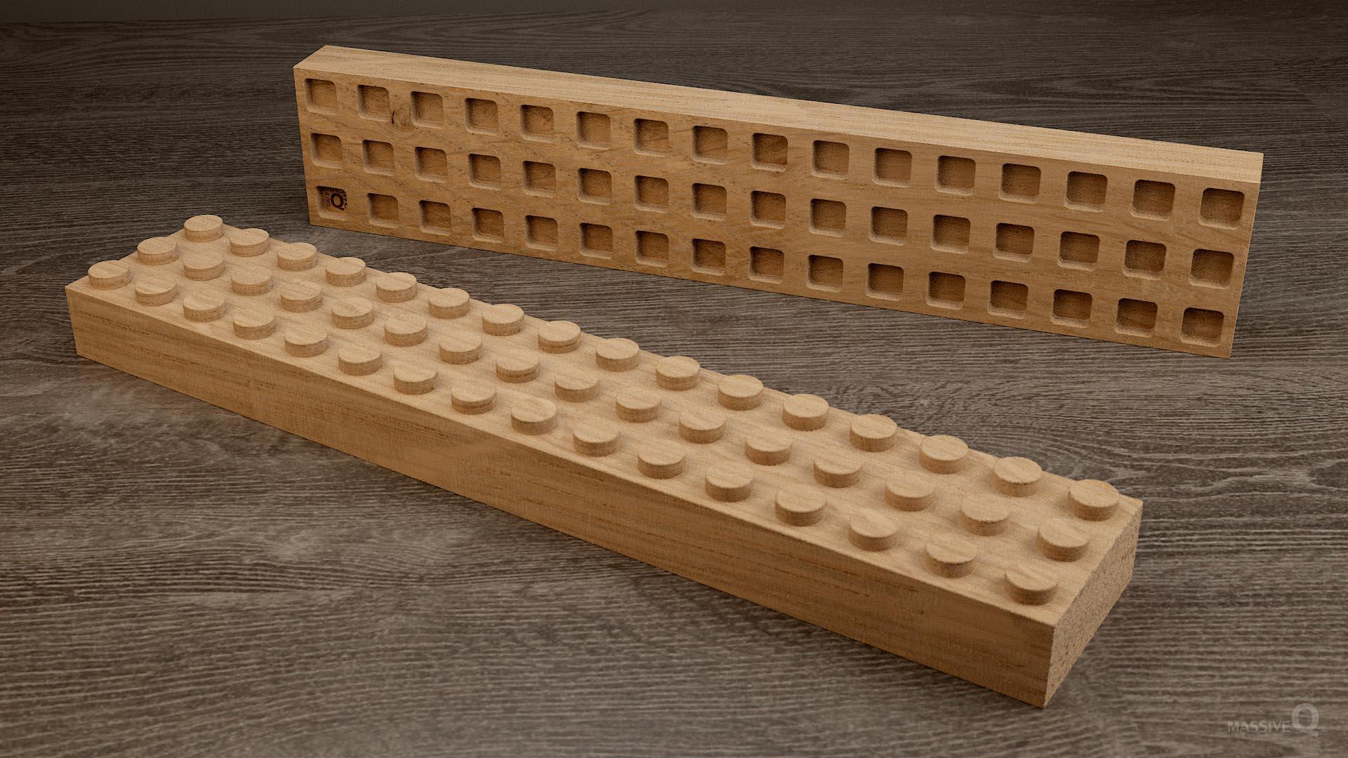 Q Brick 3×16 – Oak