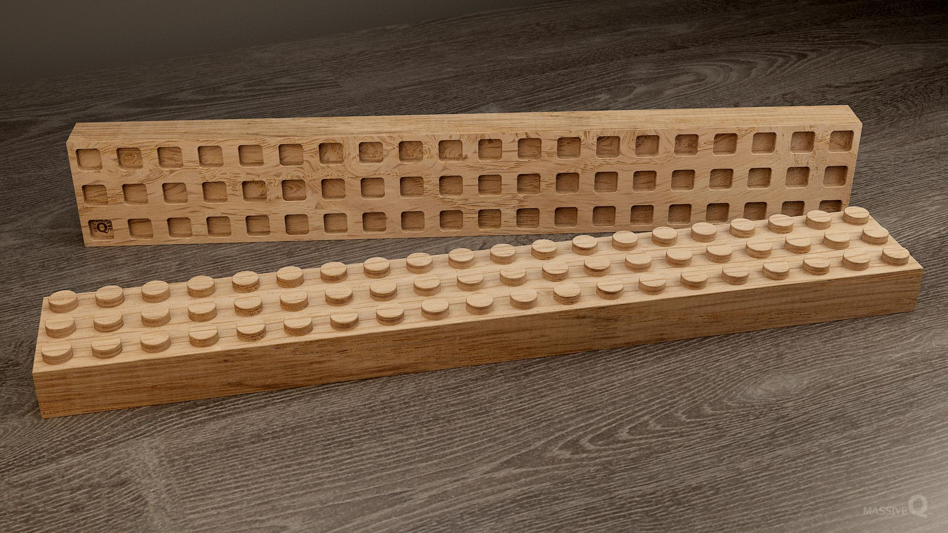 Q Brick 3×20 – Oak